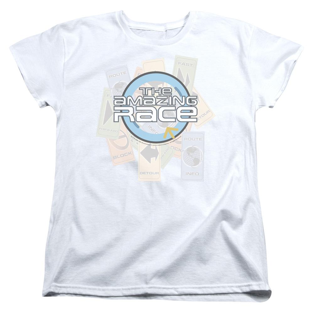 2Bhip Amazing Race Reality TV Game Show Original Logo Clues Women's T-Shirt at Sears.com