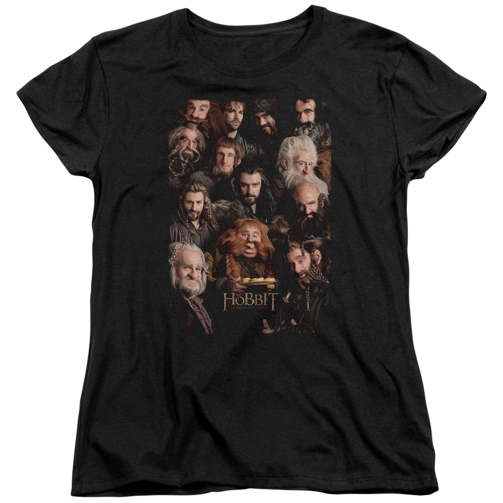 Lord Of The Rings - Hobbit The Hobbit Unexpected Journey Movie Dwarves Poster Thorin Kili Women's T-Shirt at Sears.com