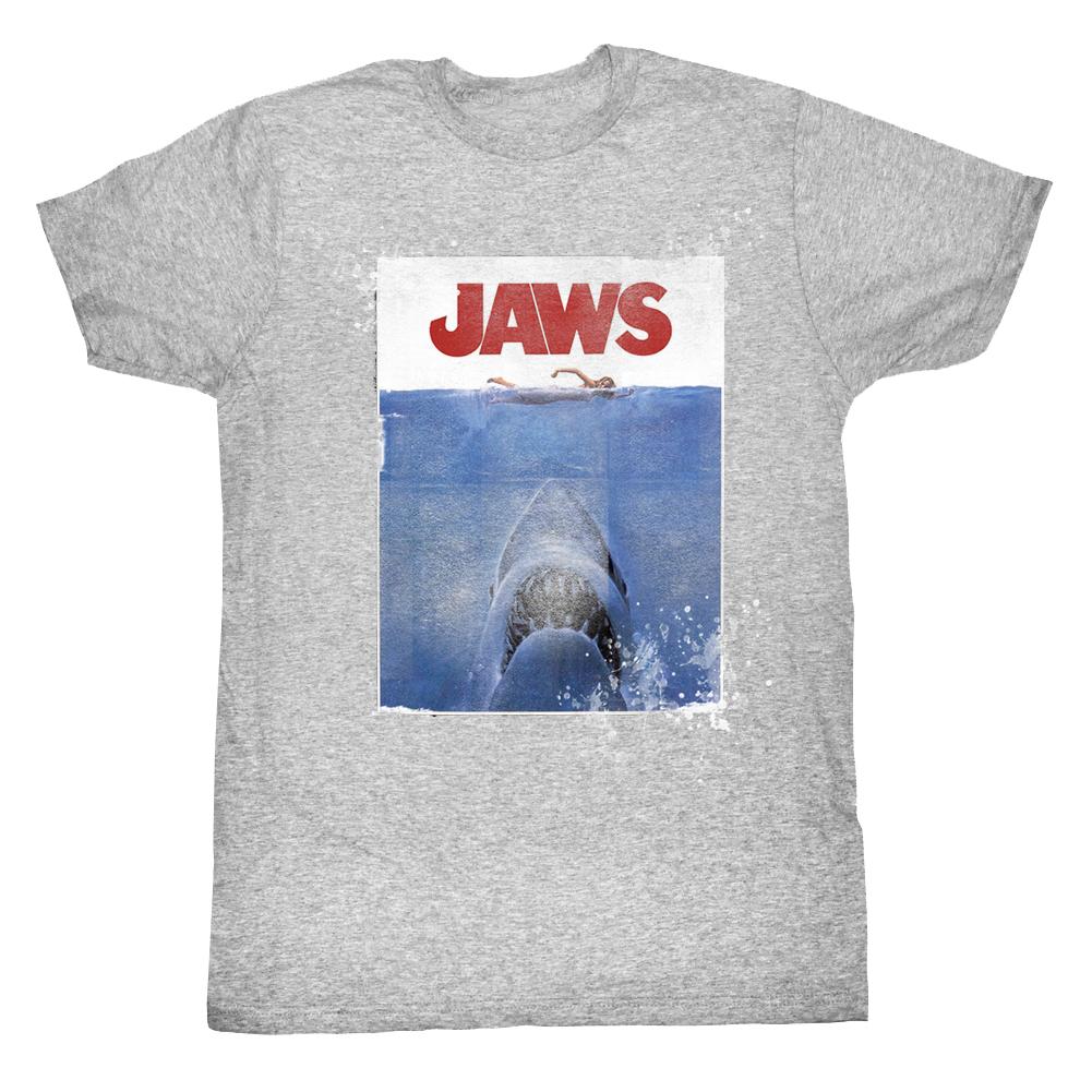 Jaws shark attack amnity island adult t shirt tee ebay for Jawbone fishing shirts