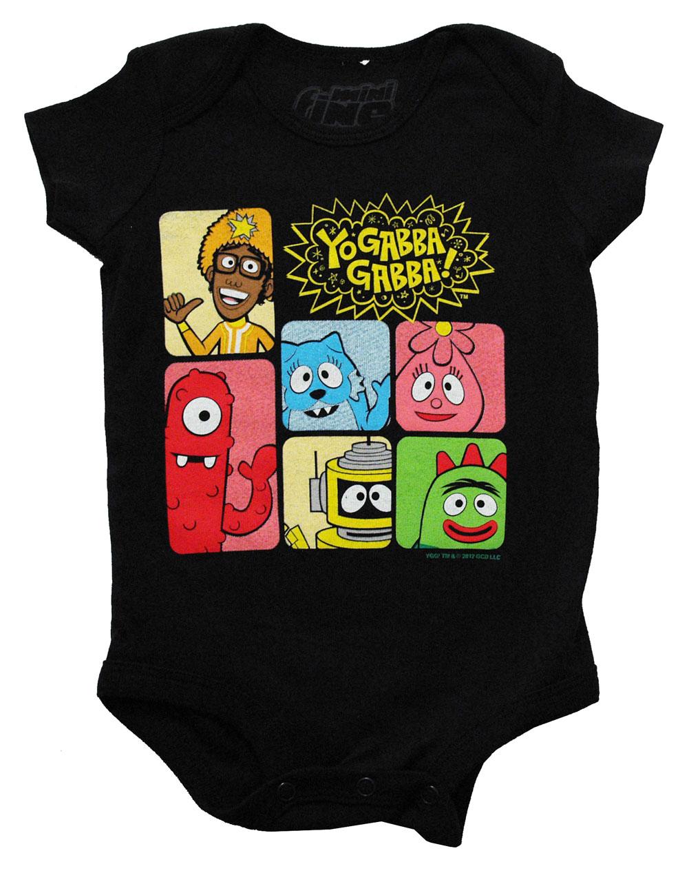 Yo Gabba Gabba Group Shot Cartoon Mini Fine Baby Creeper Romper Snapsuit