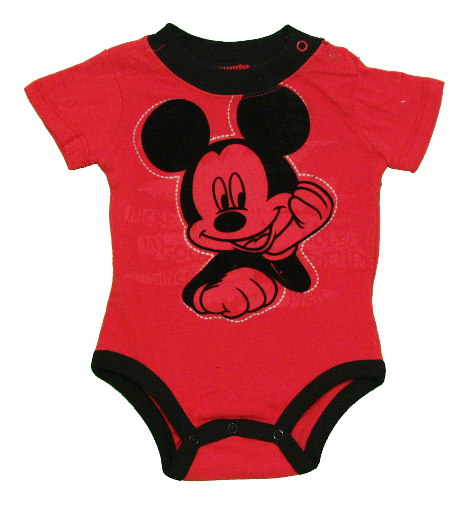 Mickey Mouse Soft Ears Disney Cartoon Baby Creeper Romper Snapsuit