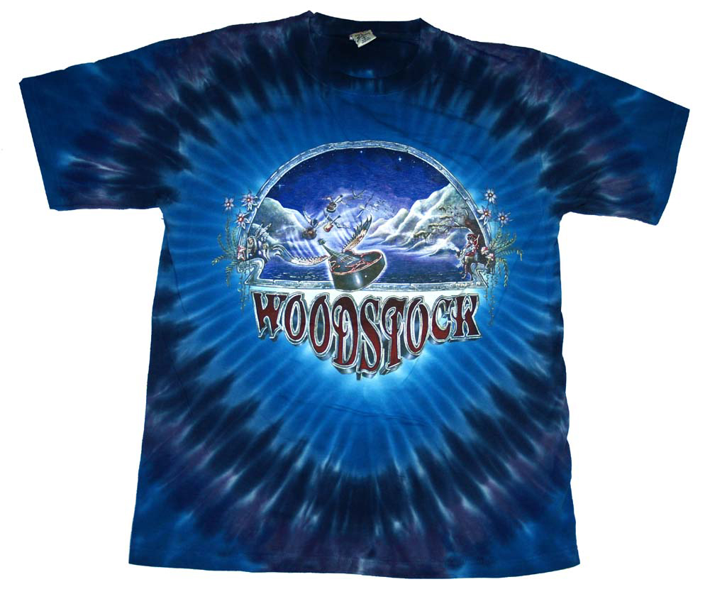 Woodstock Nights Festival 1999 Guitars Psychedelic Tie Dye T-Shirt Tee at Sears.com