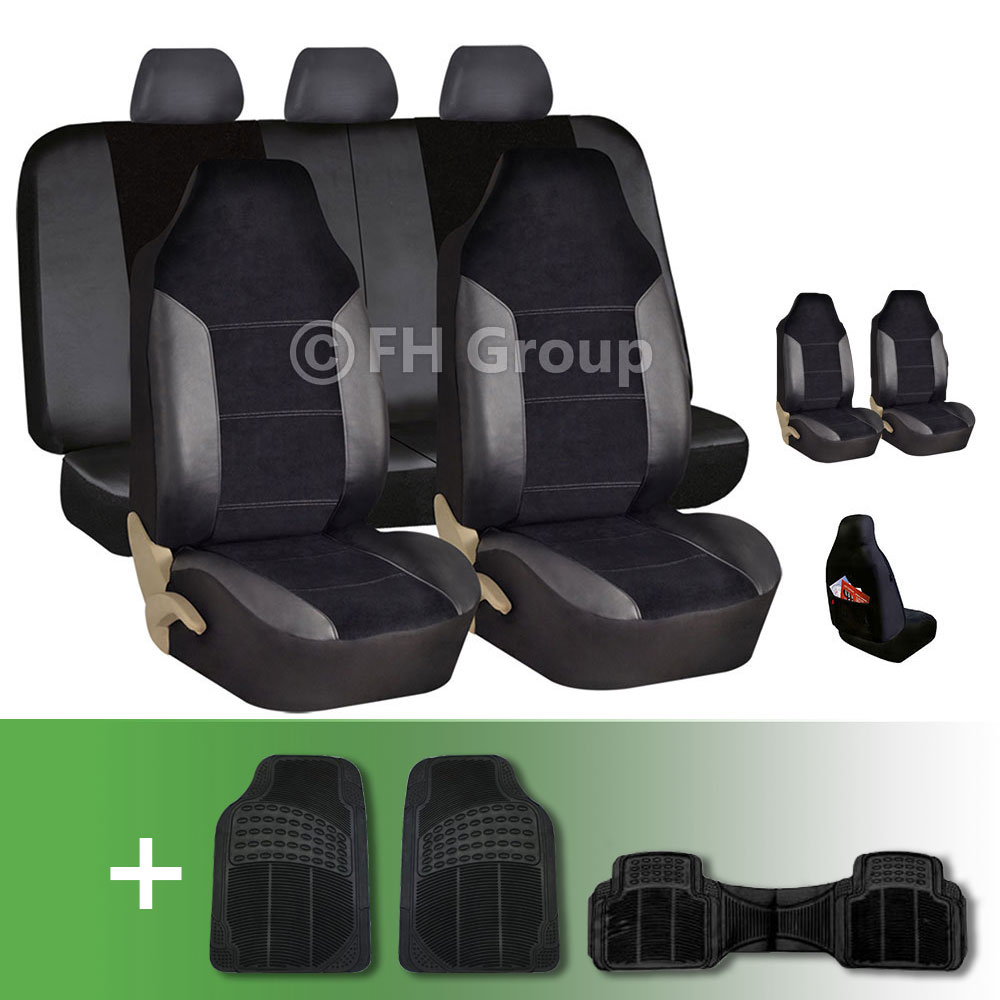 Floor mats in velour - Image Is Loading Leather Velour Car Seat Covers Luxury Sports With