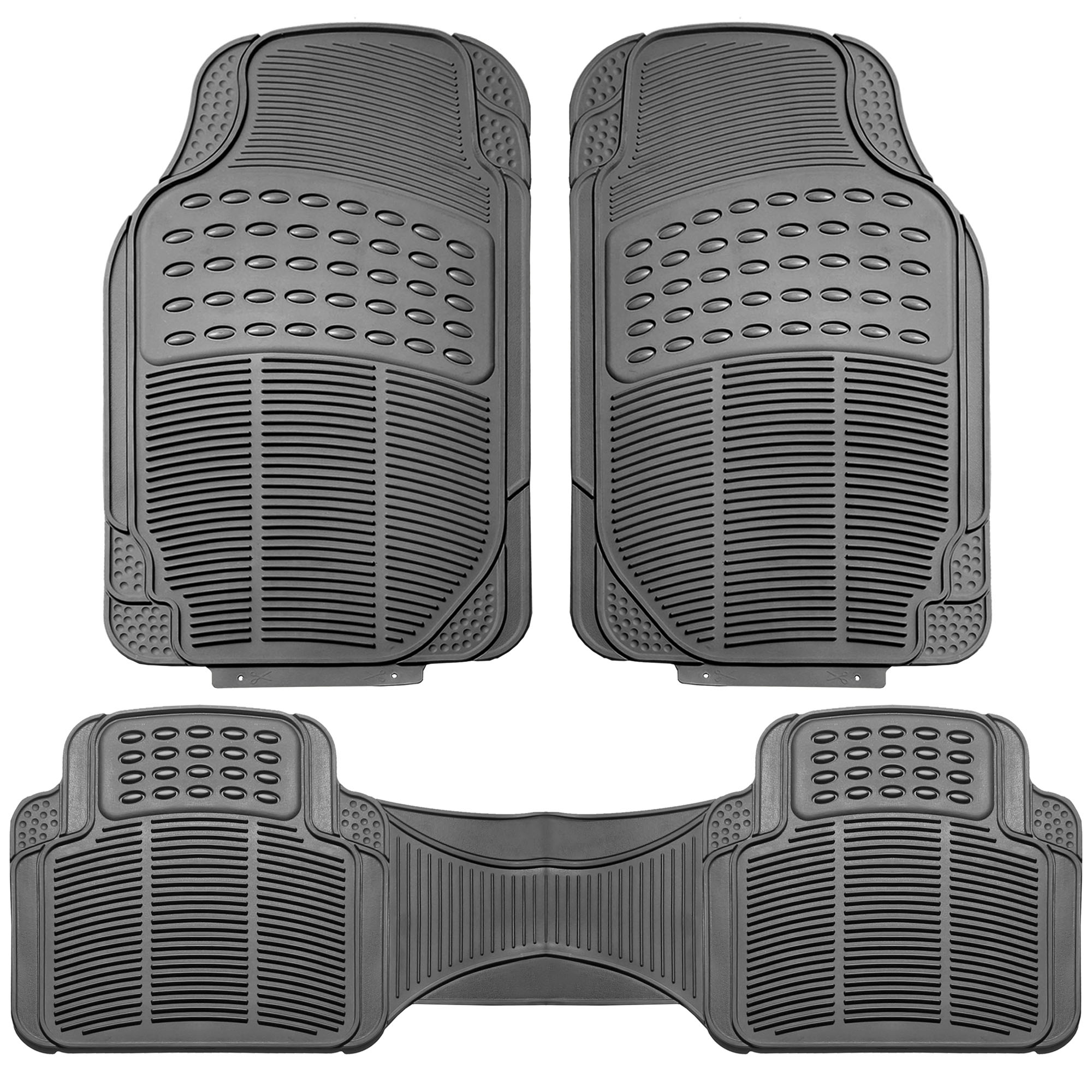 Black Orange Car Seat Covers With Gray Rubber Floor Mats