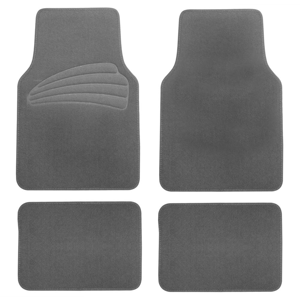Black Purple Car Seat Covers With Gray Carpet Floor Mats