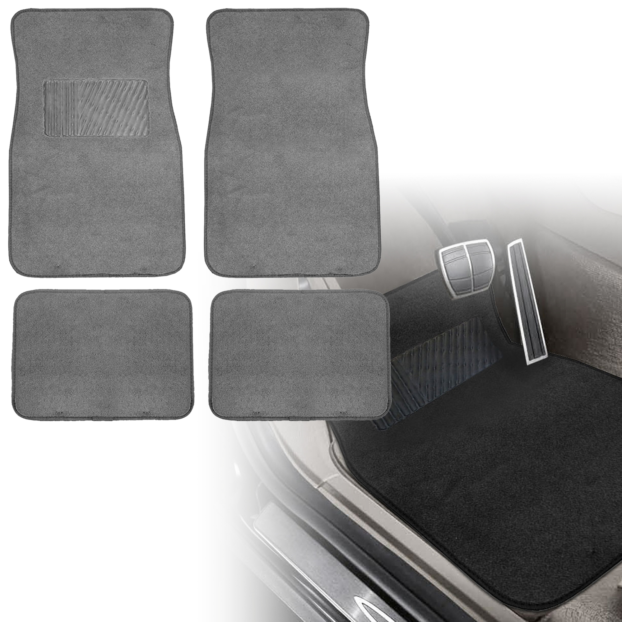 Black Amp Mint Car Seat Covers With Gray Carpet Floor Mats