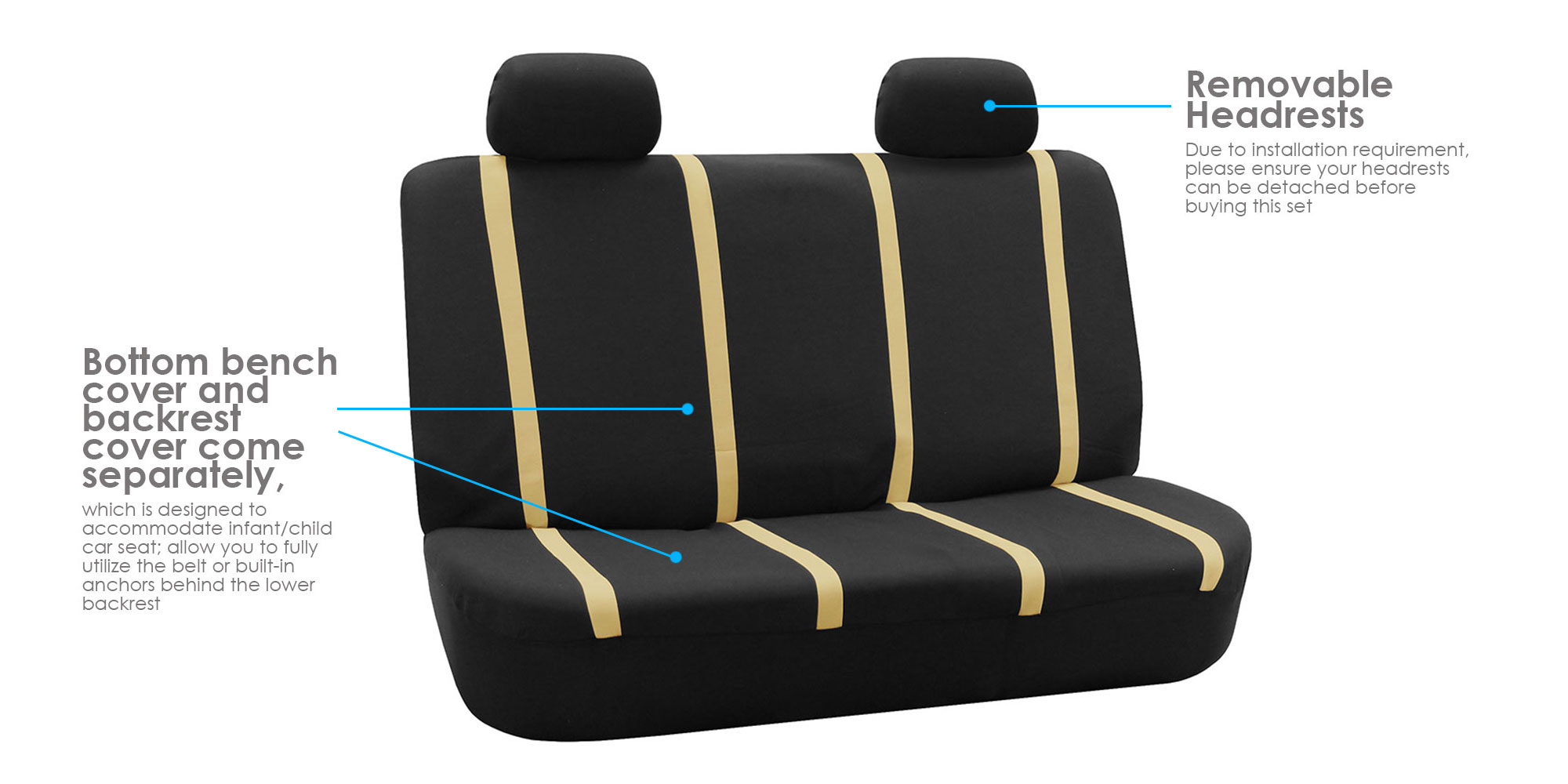 Car Seat Covers Complete Full Set For Auto Vehicle