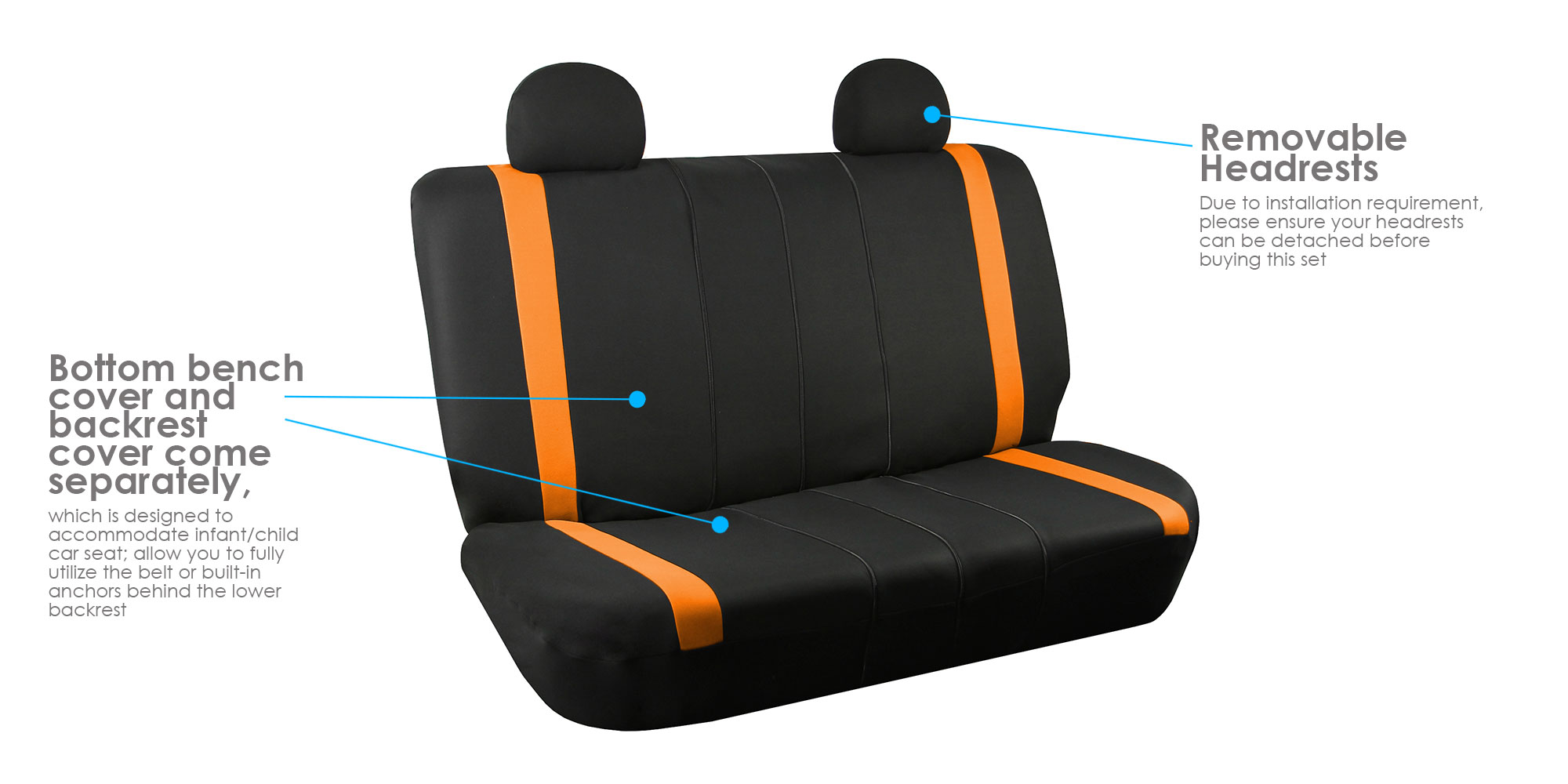black orange car seat covers with beige floor mats combo for auto car suv cad picclick ca. Black Bedroom Furniture Sets. Home Design Ideas