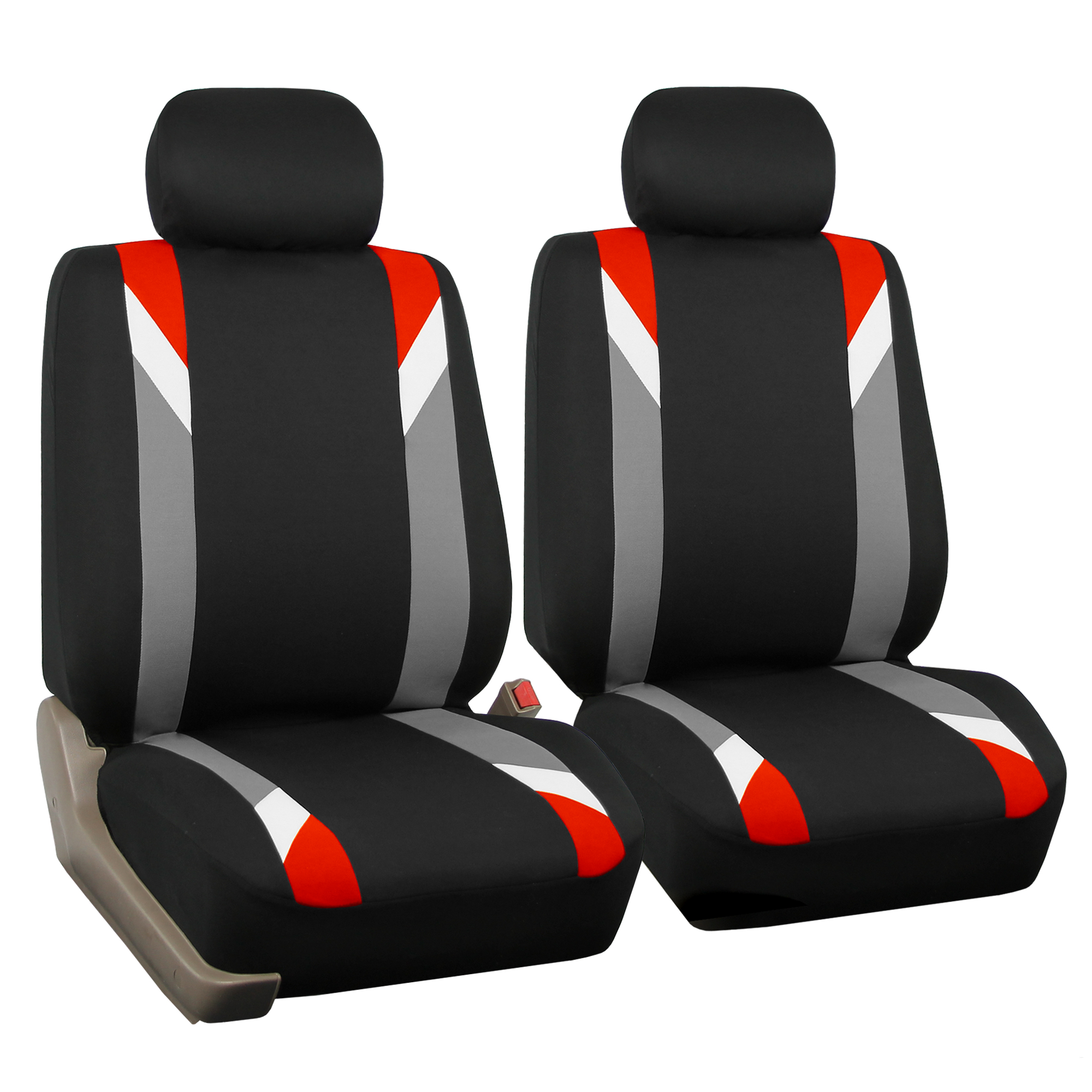 racing car seat covers for auto with leather steering wheel red black. Black Bedroom Furniture Sets. Home Design Ideas