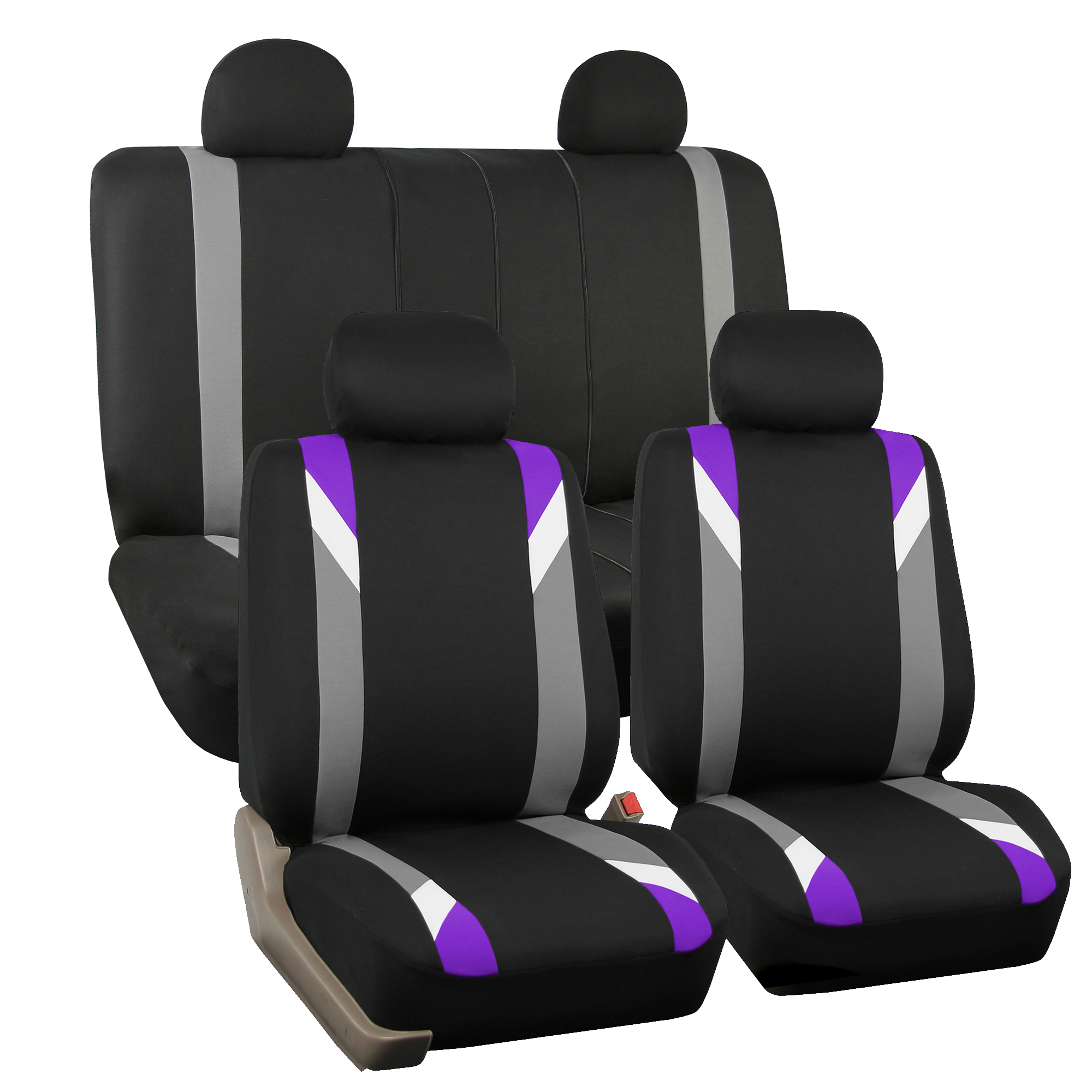 Seat Covers For Auto Car Purple W 3PC Carpet Floor Mats