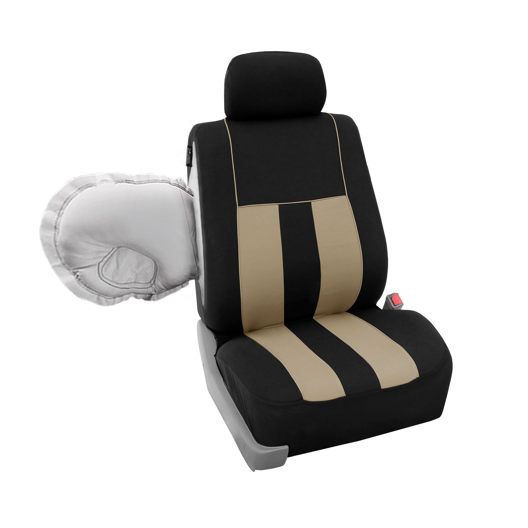 car seat cover set for auto airbag compatible split bench w dash pad ebay. Black Bedroom Furniture Sets. Home Design Ideas