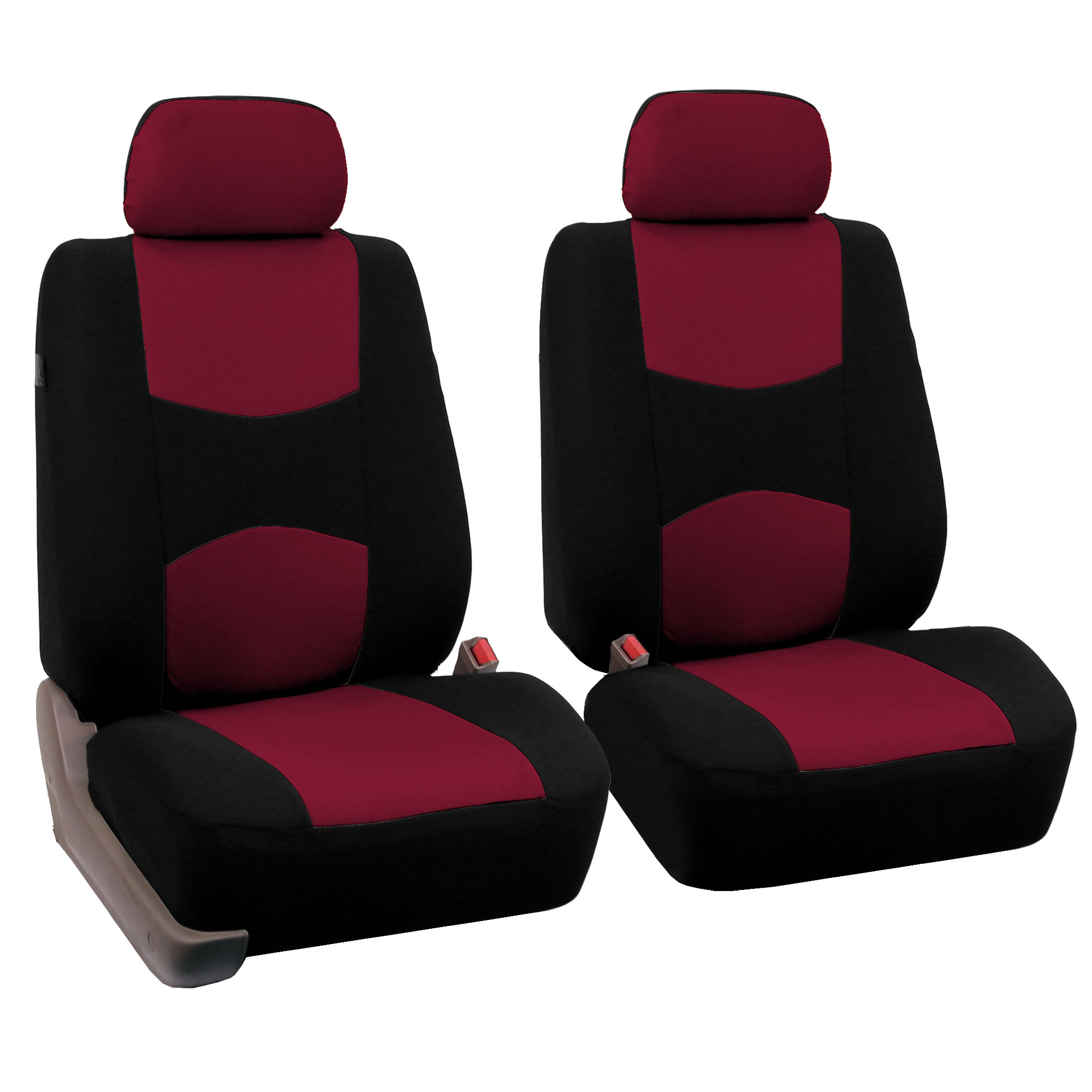 Pair Bucket Fabric Seat Covers For Detachable Headrest Seats EBay - Burgundy toilet seat cover