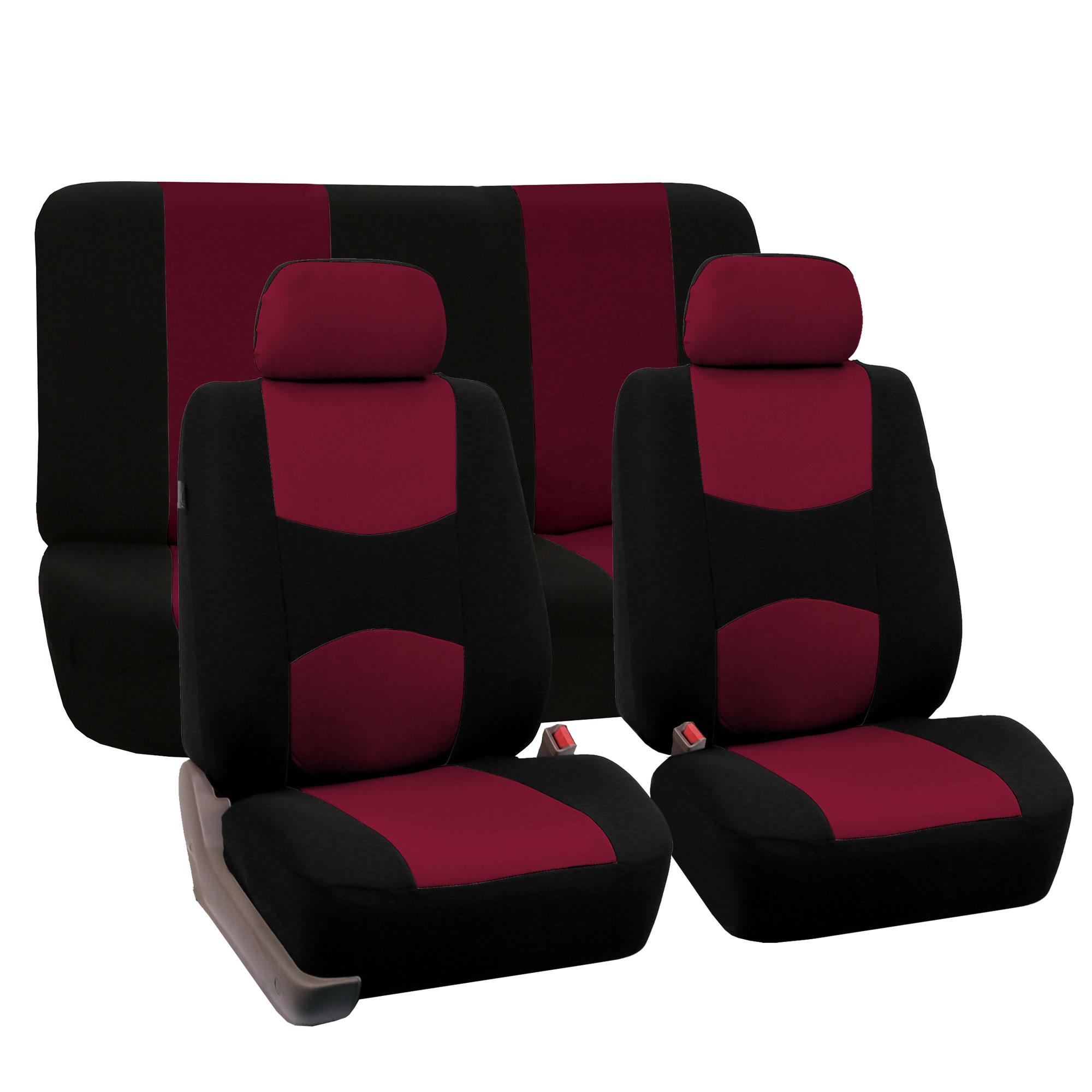 Complete Car Seat Covers Red Black Sports Luxury Car SUV Sedan