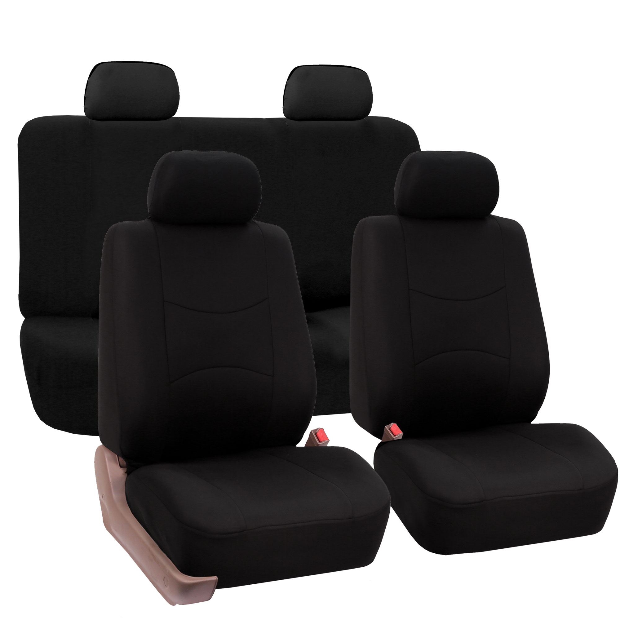 8 piece lowback flat cloth full set auto seat covers ebay. Black Bedroom Furniture Sets. Home Design Ideas