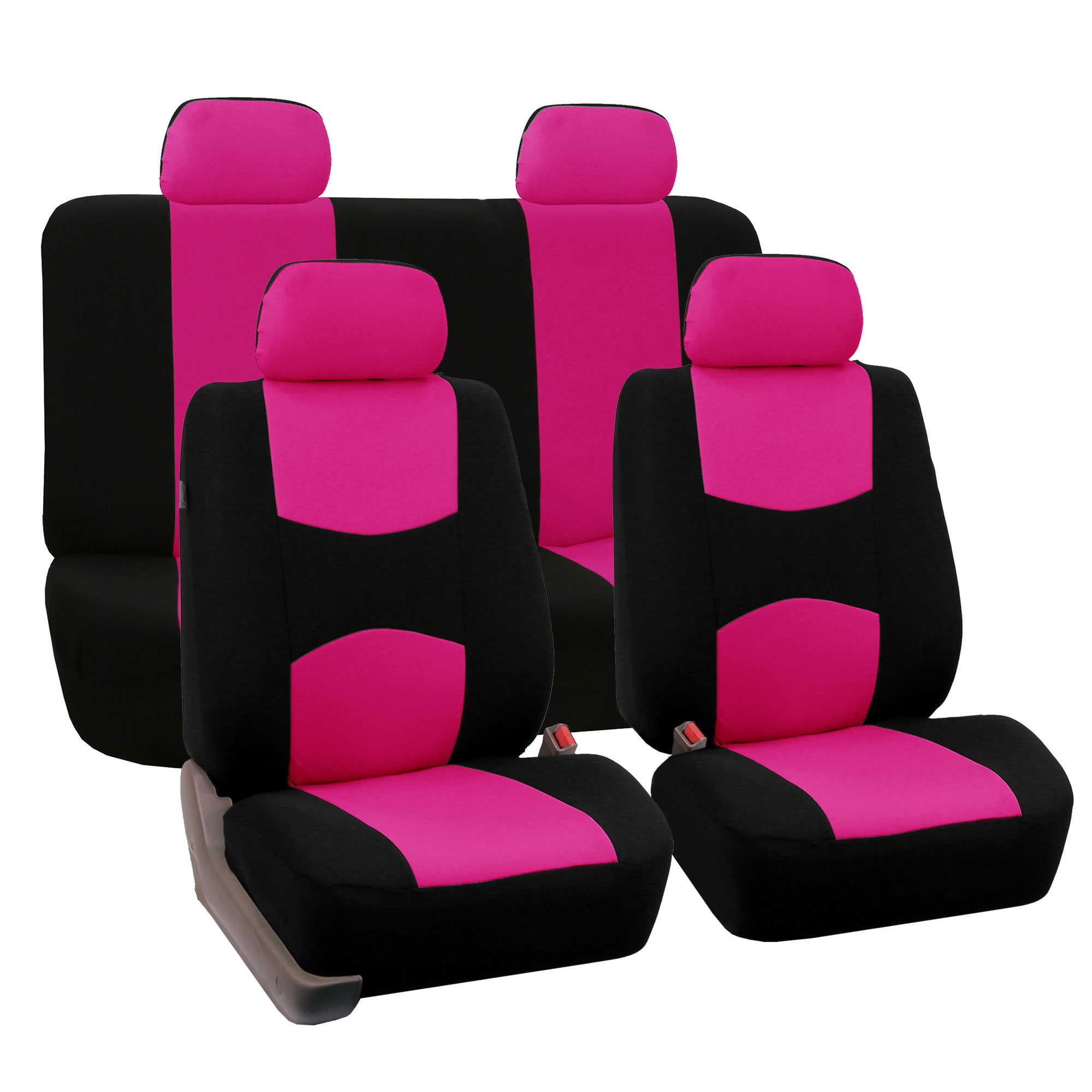 8 Piece Lowback Flat Cloth Full Set Auto Seat Covers Ebay