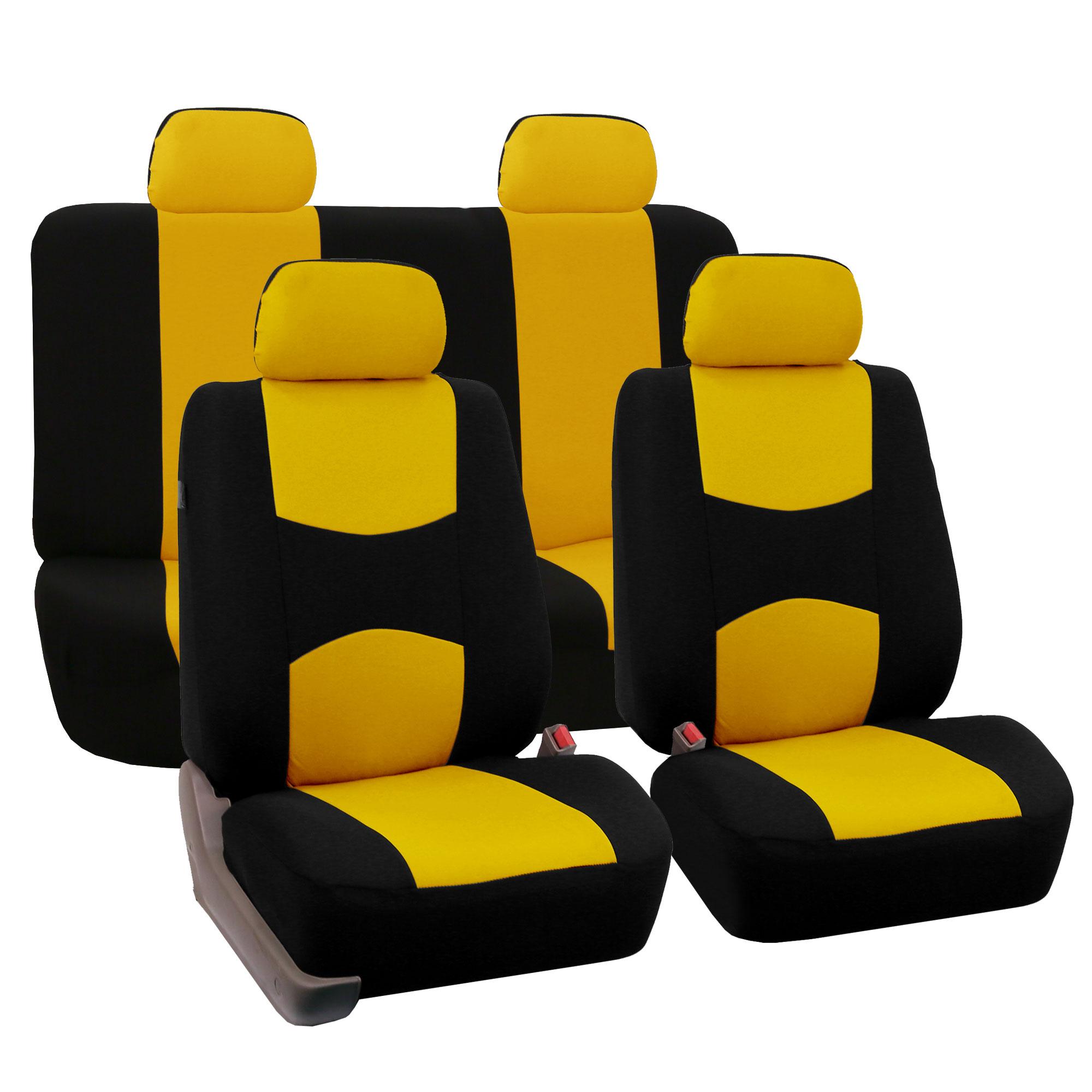 8 Piece Lowback Flat Cloth Full Set Auto Seat Covers | eBay