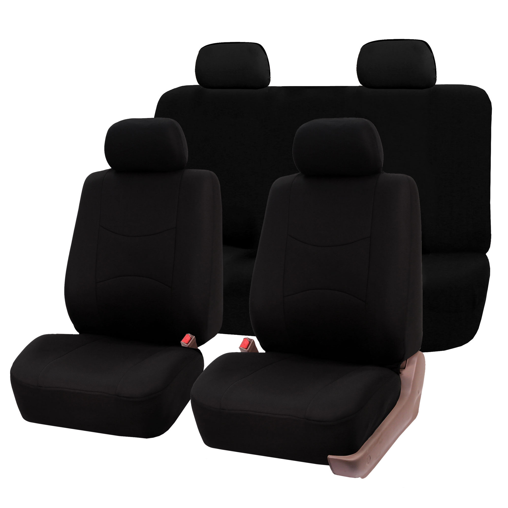 High Quality Luxury Car Seat Cover Front Rear Black For