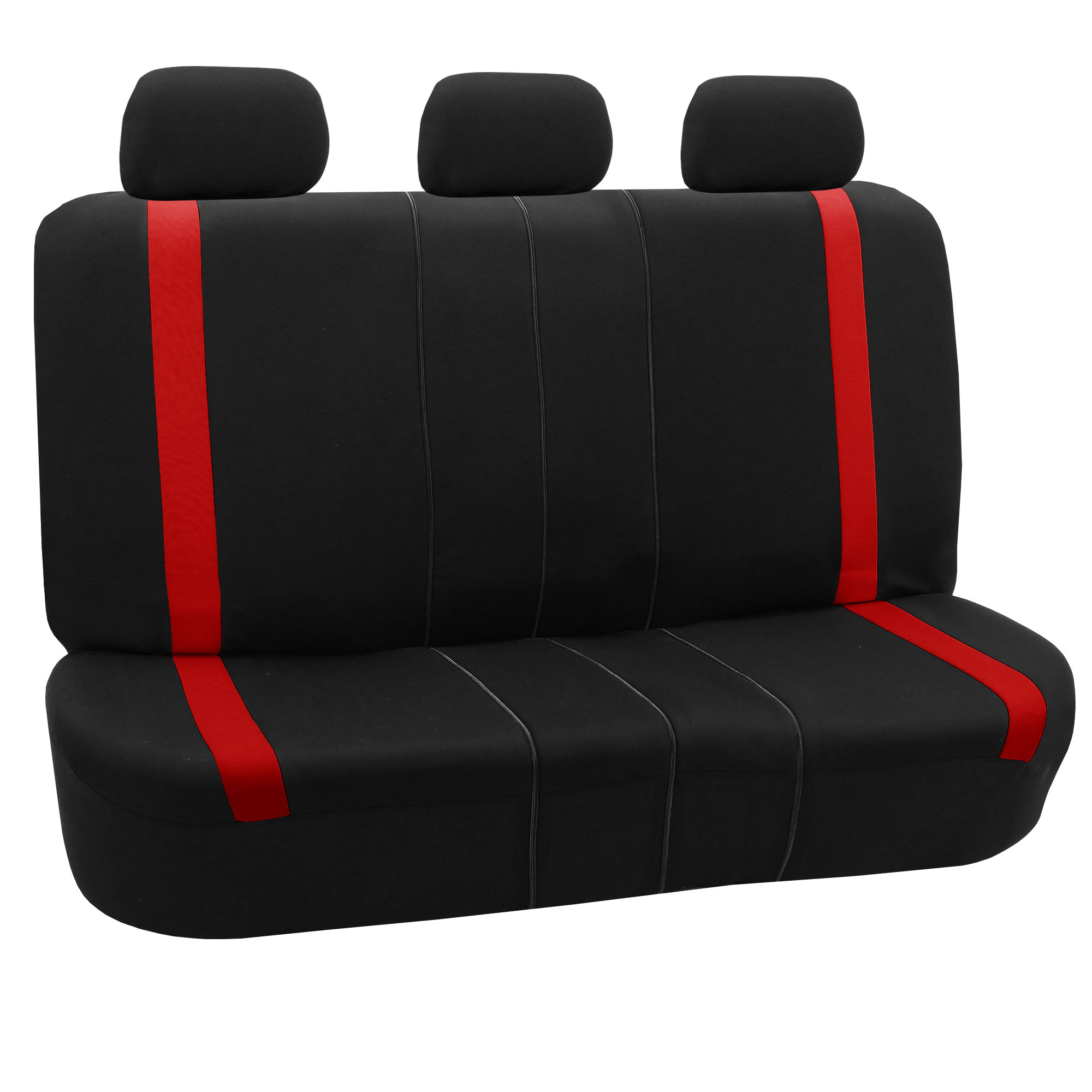 Car Seat Covers Red Set For Auto W Head Rests Rubber