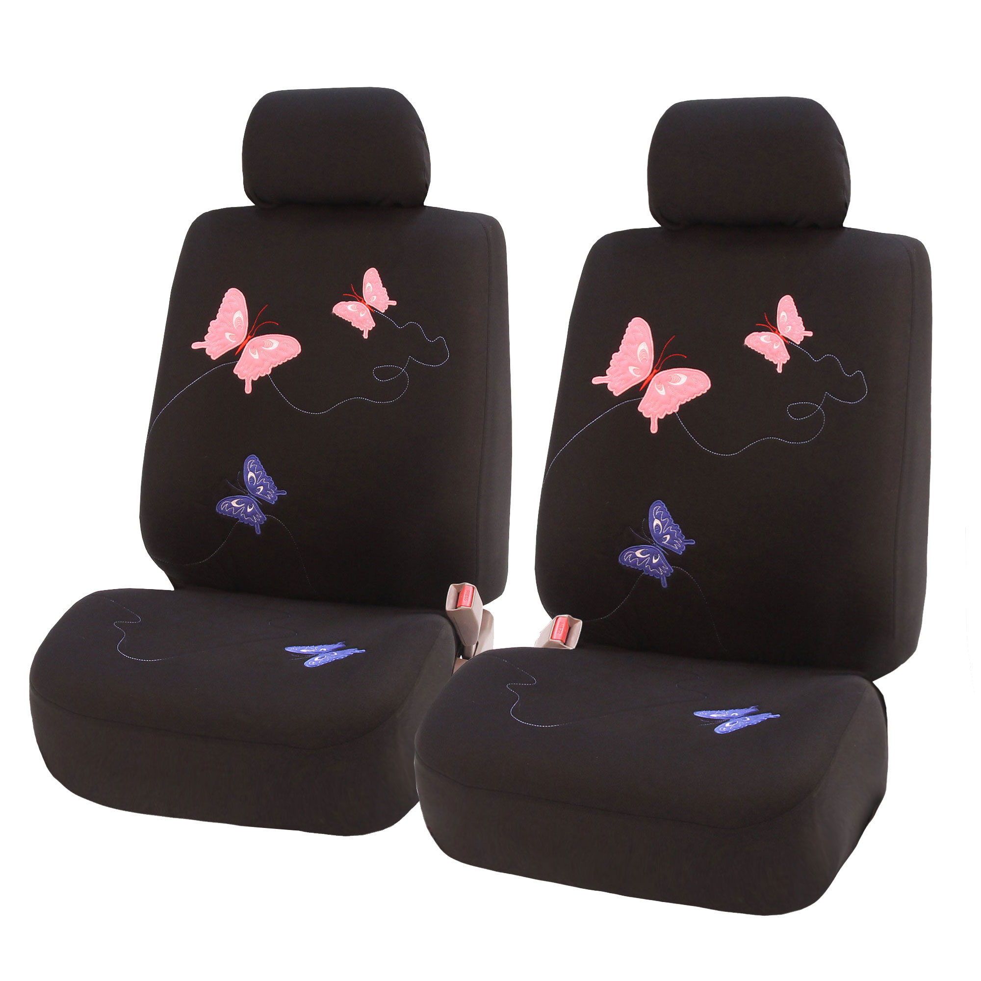 Orange Butterfly Car Seat Covers