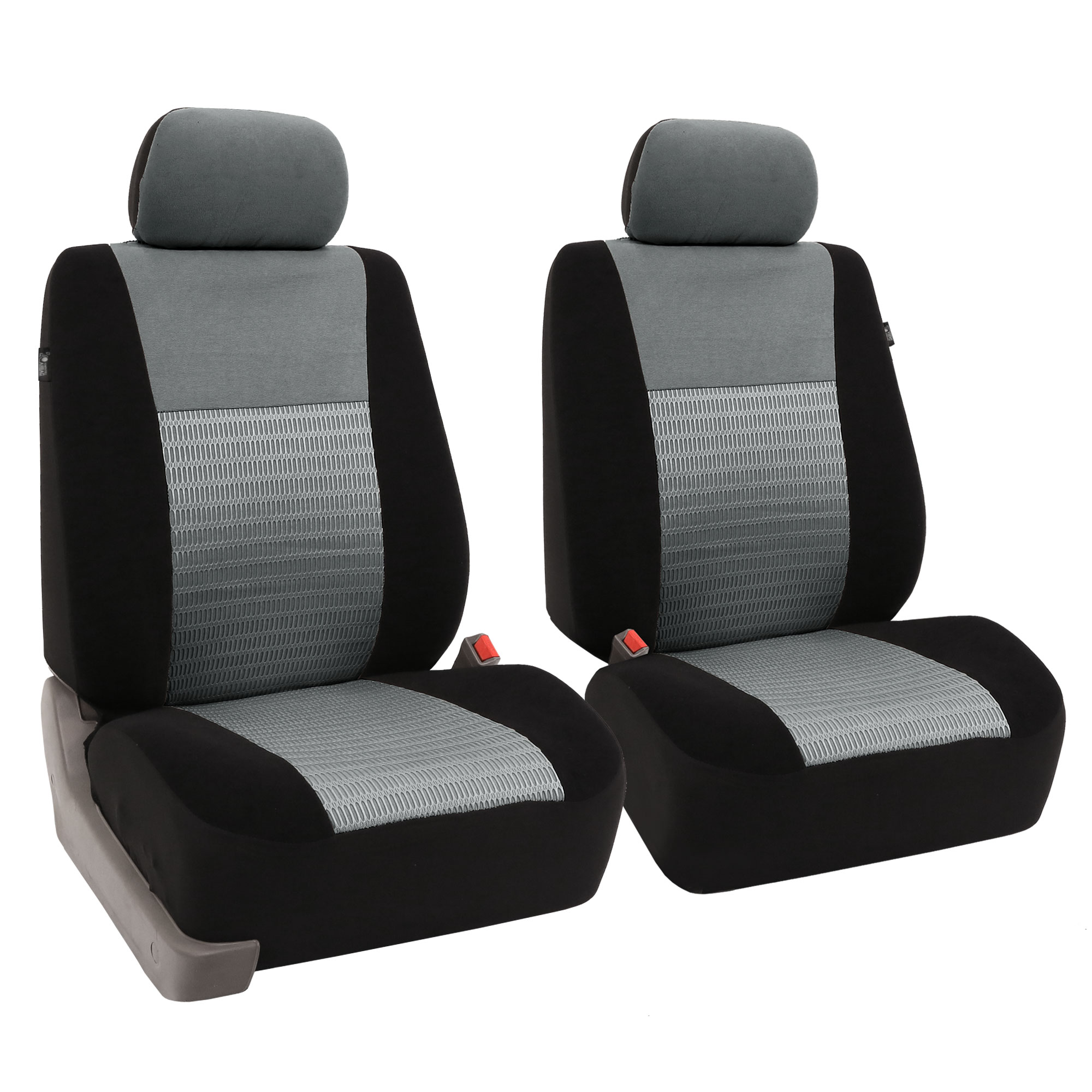 Pair Bucket Fabric Seat Covers For Detachable Headrest