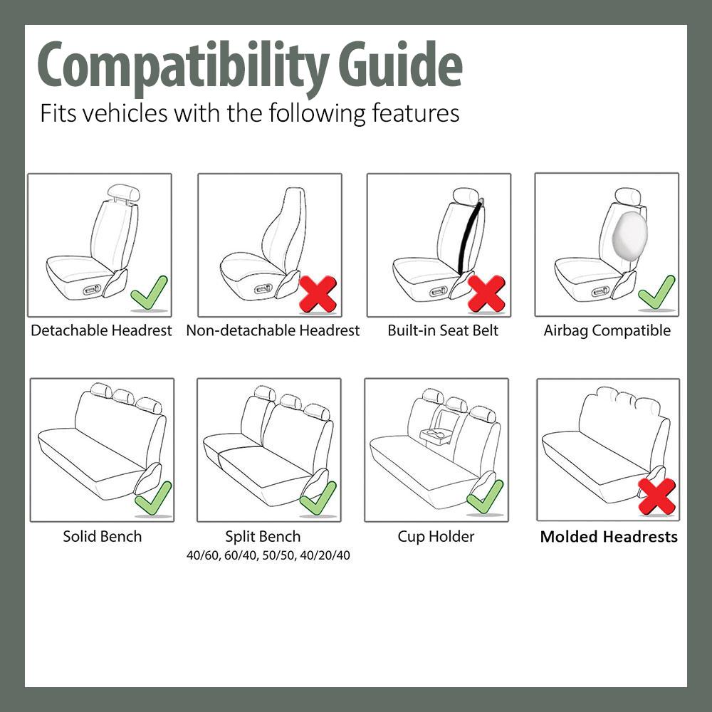 Seat Covers Premium Mesh Fabric For Car SUV Van 3 Color Options