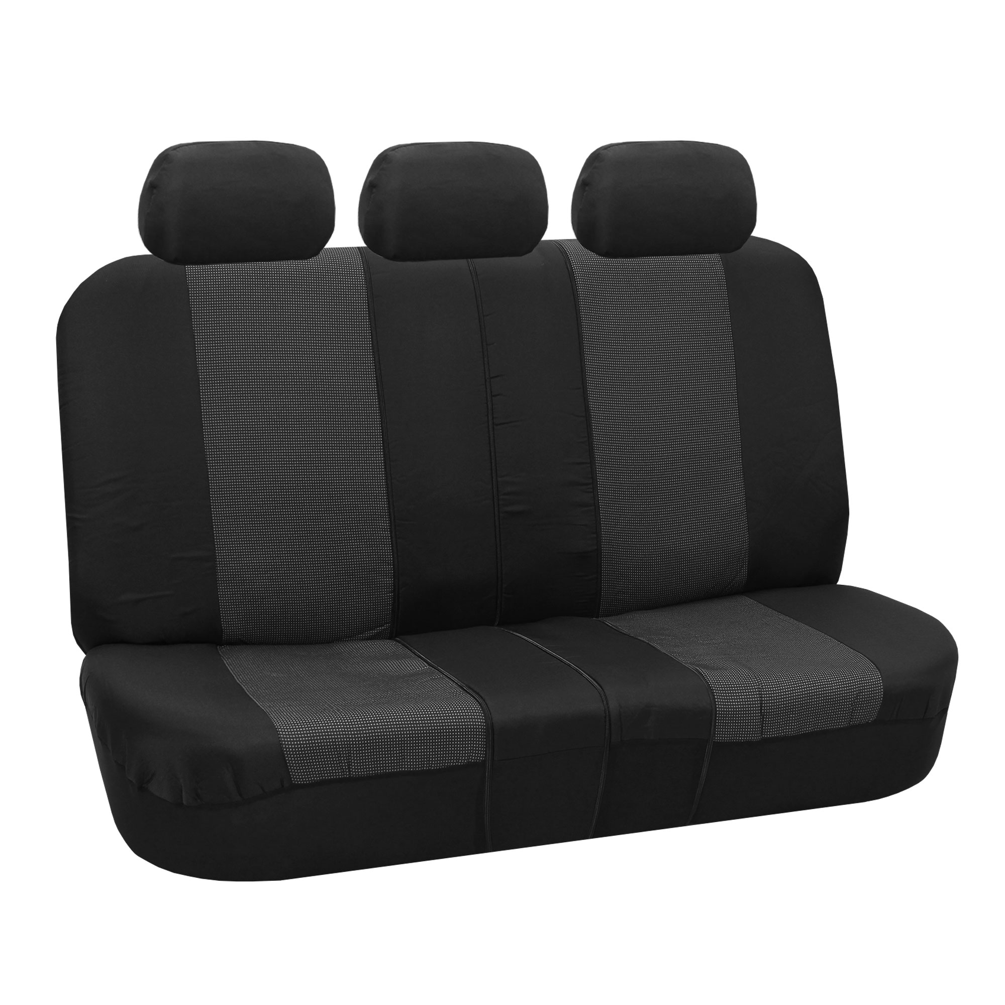 gray car seat covers set for auto w floor mat. Black Bedroom Furniture Sets. Home Design Ideas