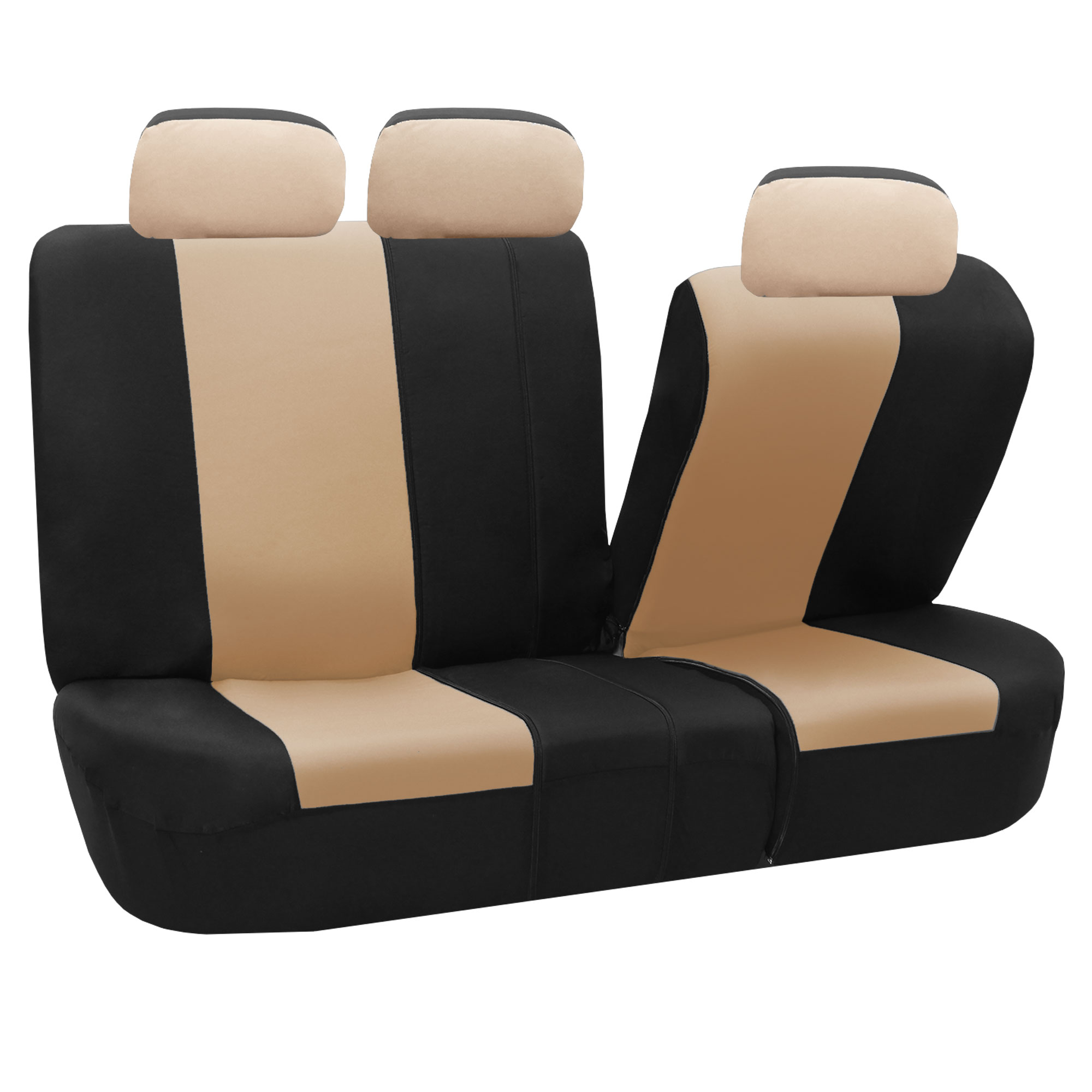 classic khaki full set car seat covers air bag safe split bench ready ebay. Black Bedroom Furniture Sets. Home Design Ideas