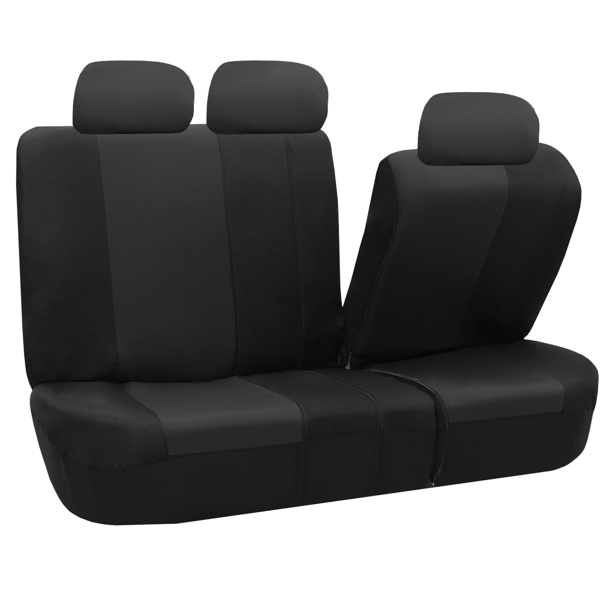 classic khaki car seat covers black with steering wheel cover ebay. Black Bedroom Furniture Sets. Home Design Ideas