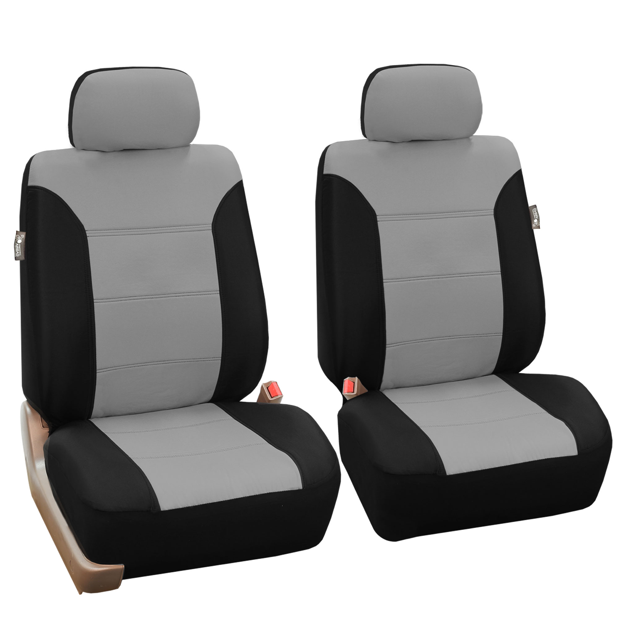 classic khaki bucket car seat covers pair ebay. Black Bedroom Furniture Sets. Home Design Ideas