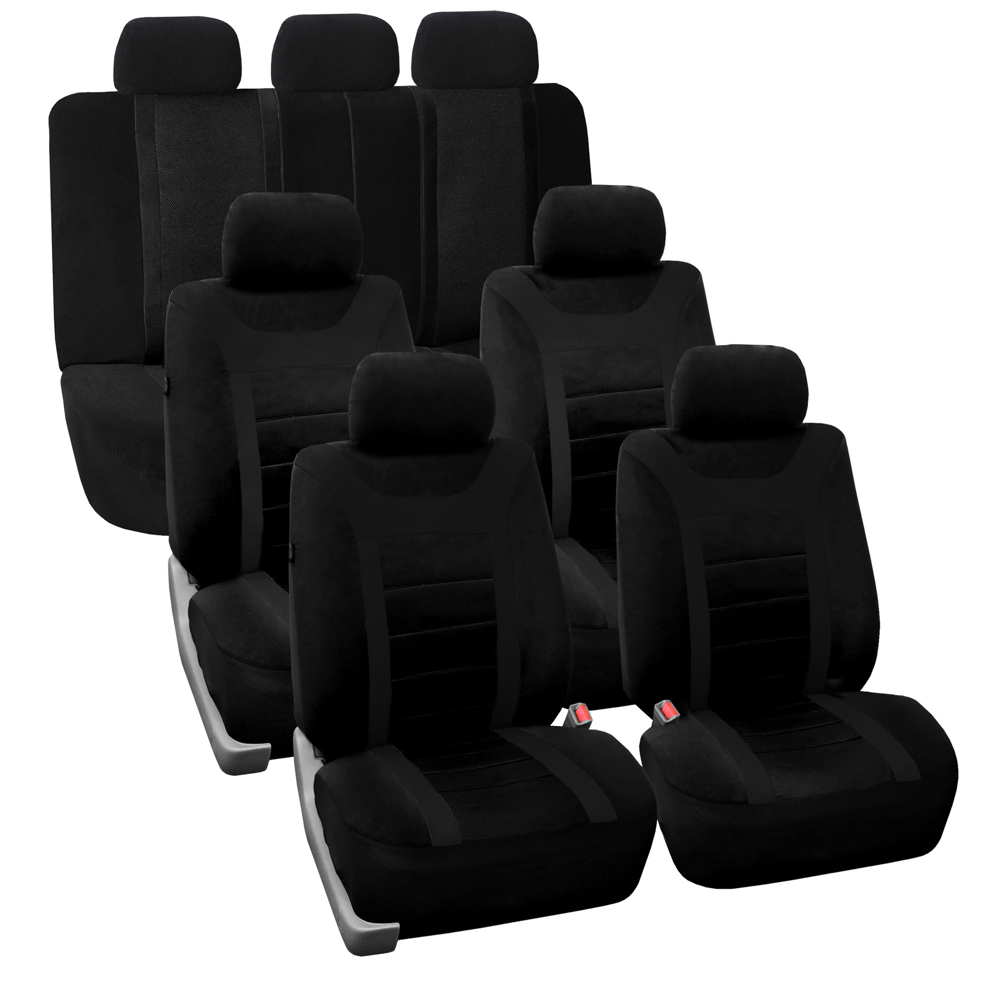 3 row car seat cover set top quality luxury for suv truck minivan ebay. Black Bedroom Furniture Sets. Home Design Ideas