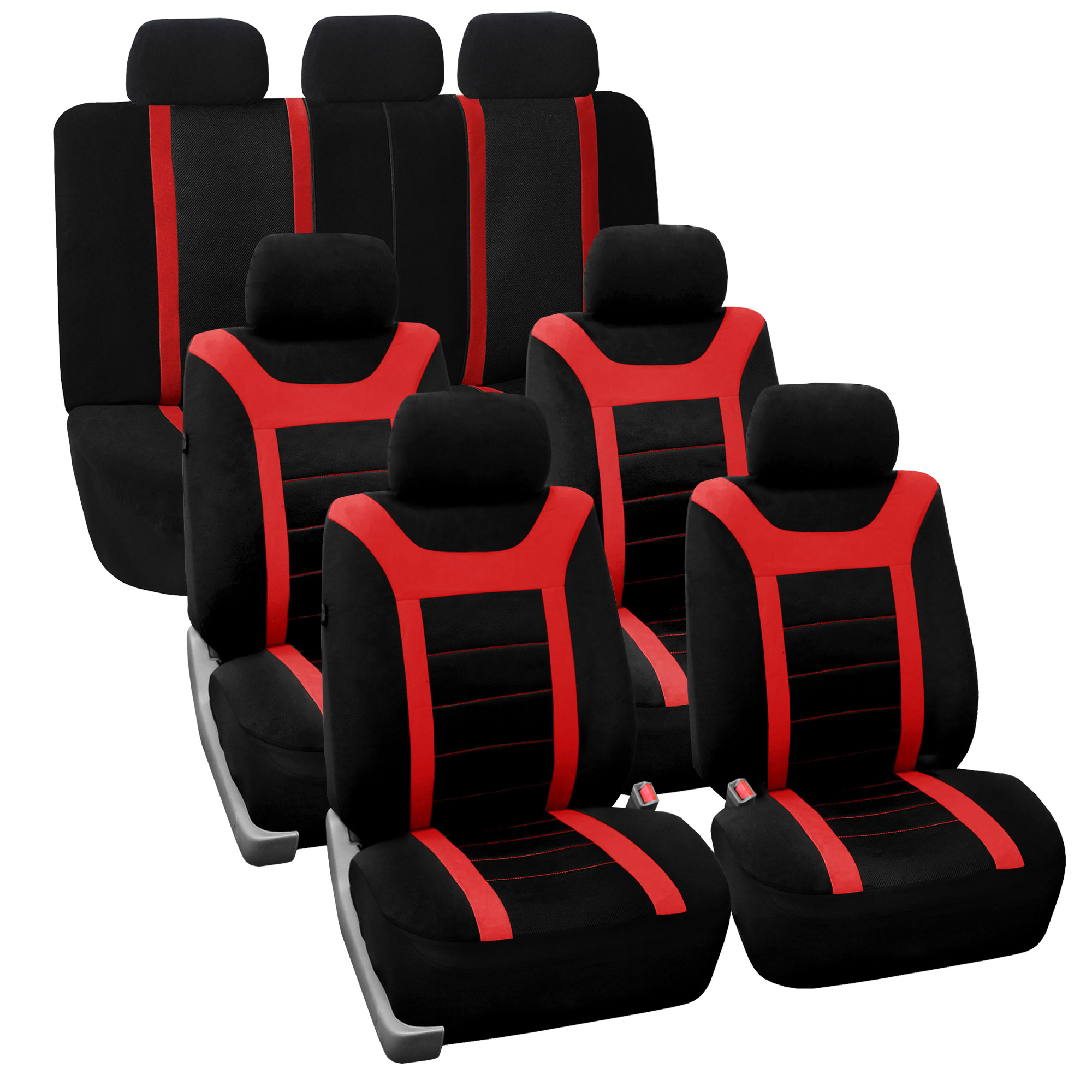 3 Row Car Seat Cover Set Top Quality Luxury For SUV Truck