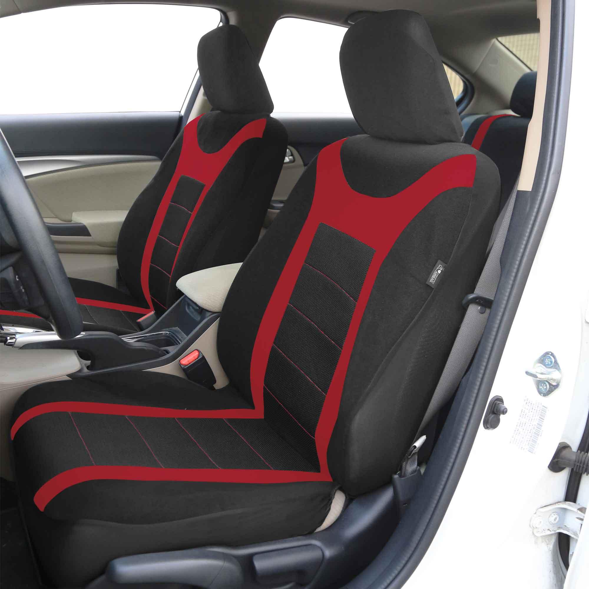 sports car seat covers complete set air bag safe split bench ready ebay. Black Bedroom Furniture Sets. Home Design Ideas