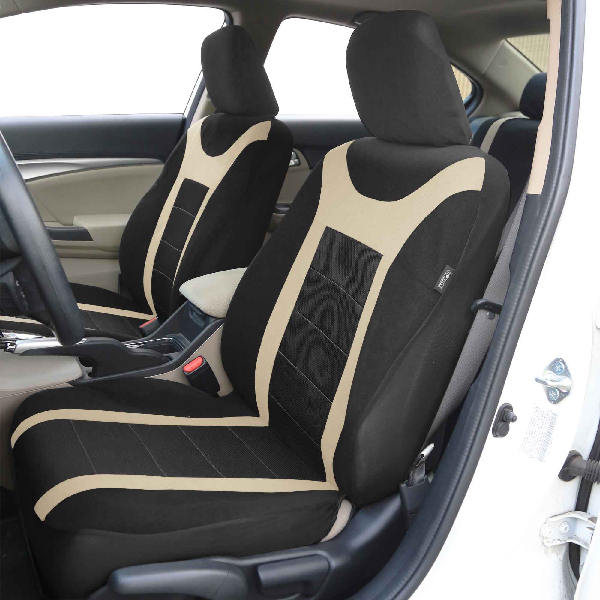 Marvelous photograph of Sports Car Seat Covers Complete Set Air bag Safe & Split Bench Ready  with #816F4A color and 2000x2000 pixels