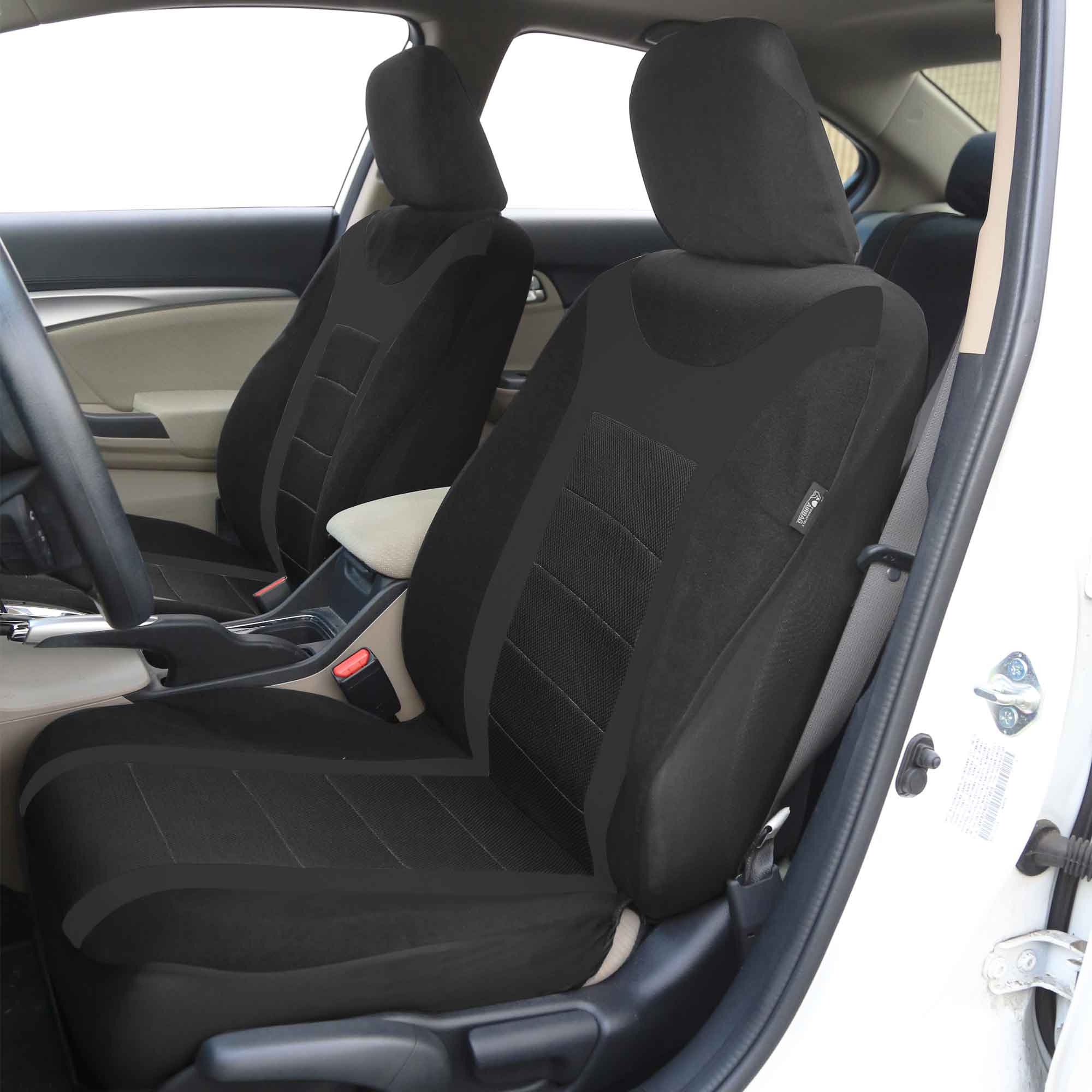 Heavy Truck Seat Covers : Black full ser car seat cover for auto with heavy duty