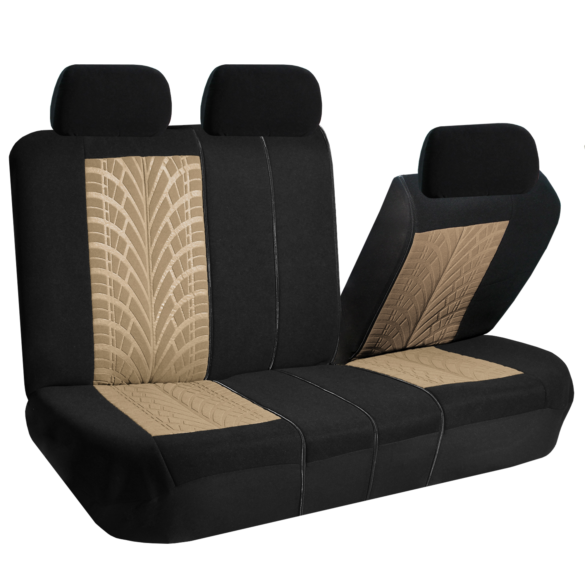 beige car seat covers set for auto w floor mat ebay. Black Bedroom Furniture Sets. Home Design Ideas