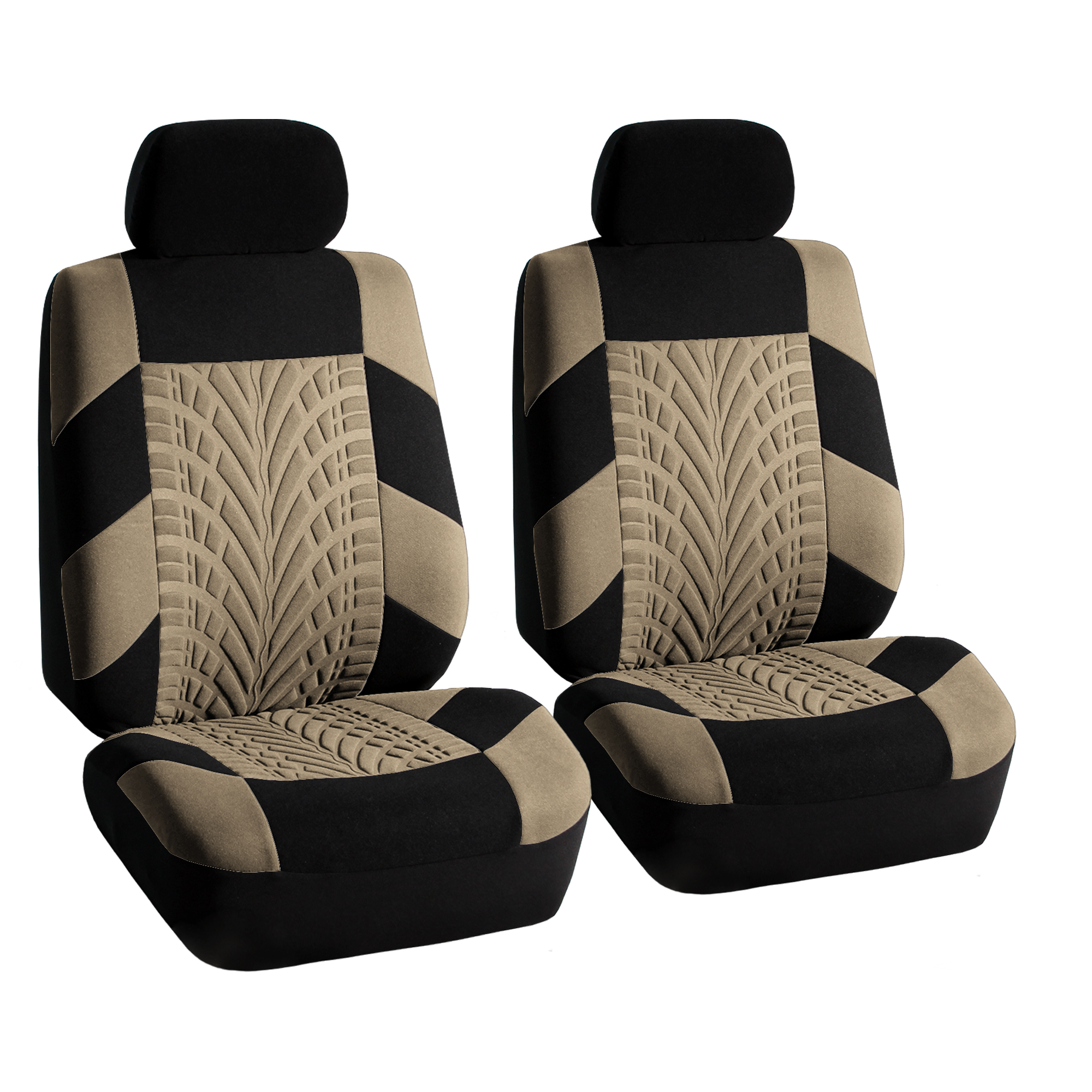 Beige Car Seat Covers Set For Auto W Floor Mat