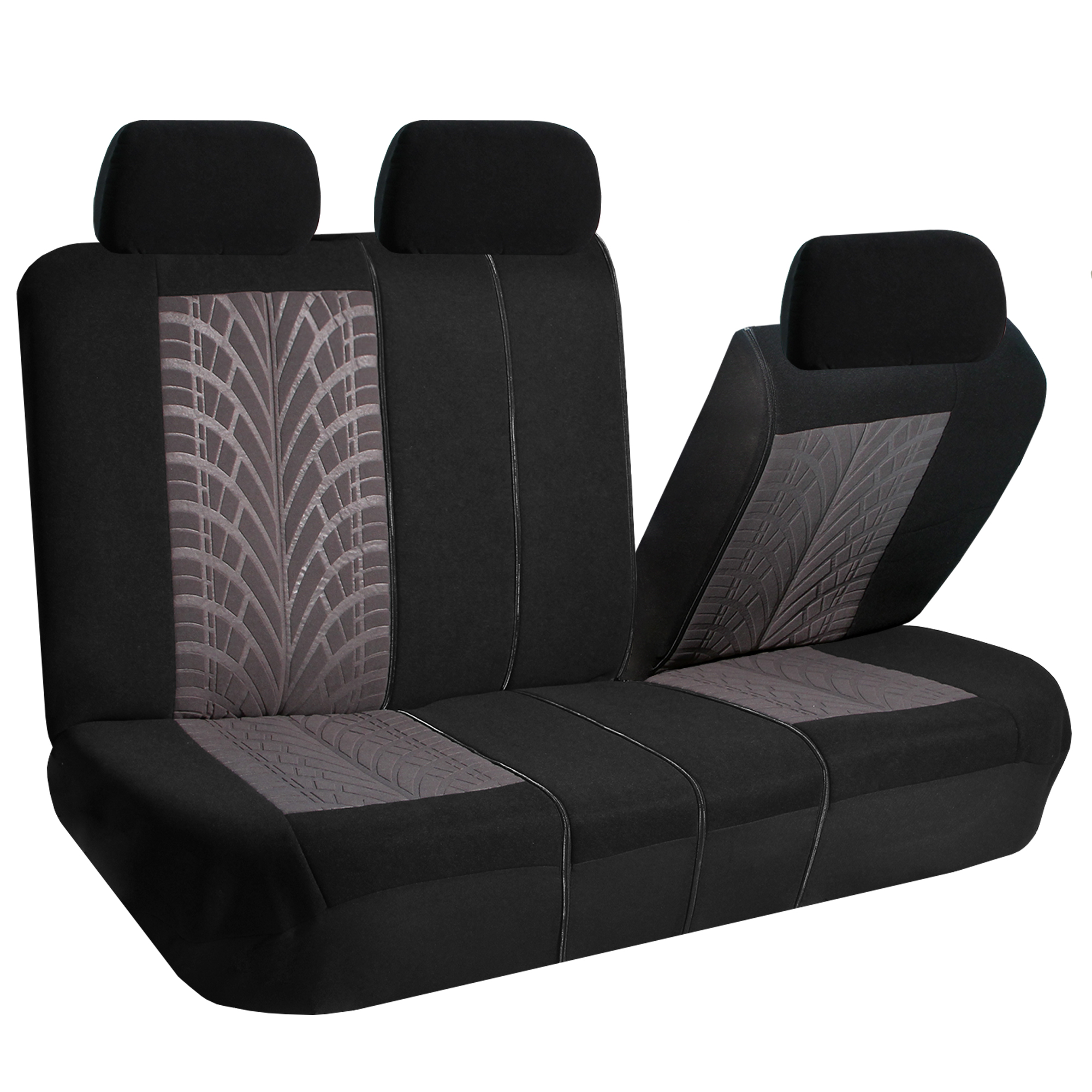 gray car seat covers set for auto w floor mat ebay. Black Bedroom Furniture Sets. Home Design Ideas
