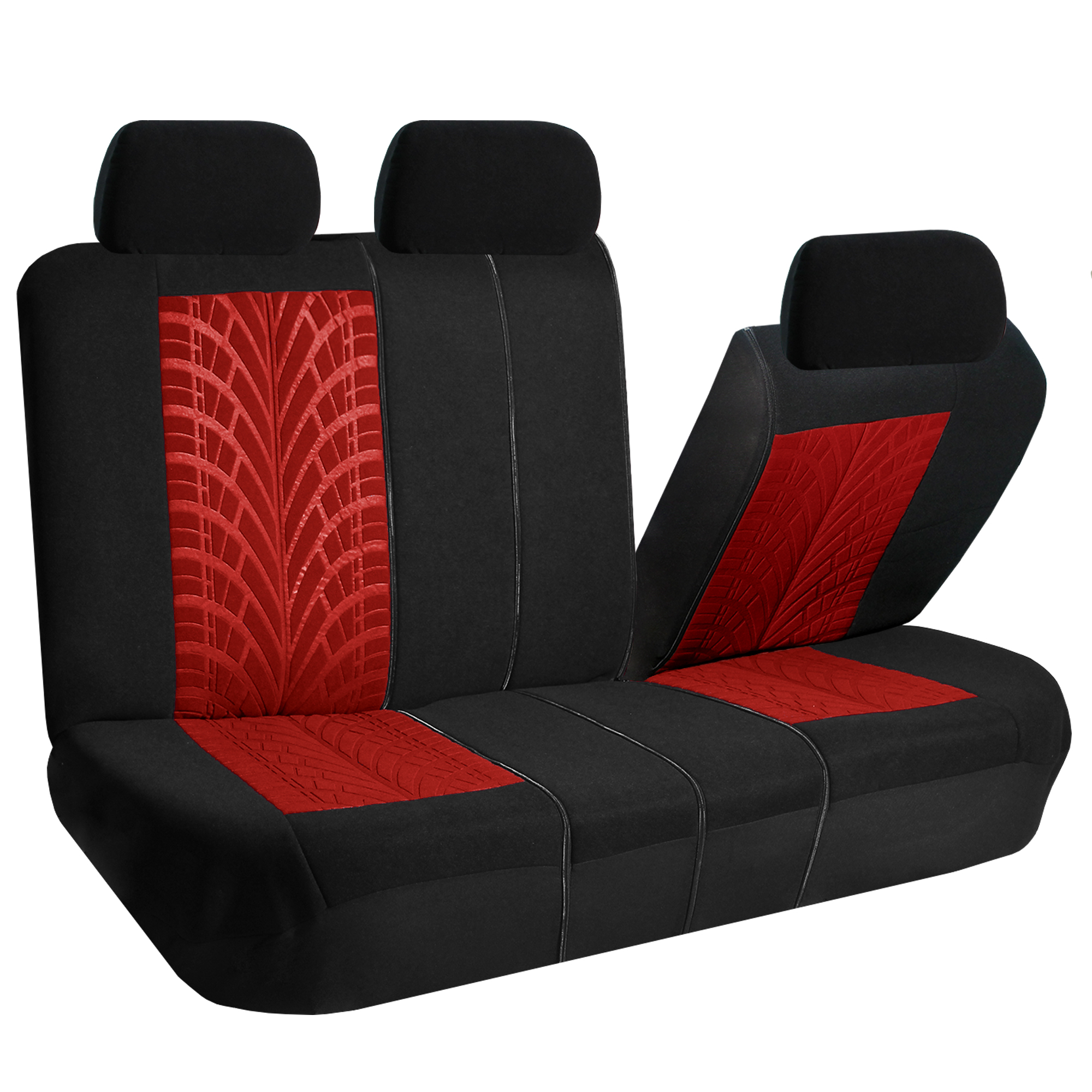 Red Car Seat Covers Set For Auto W Floor Mat