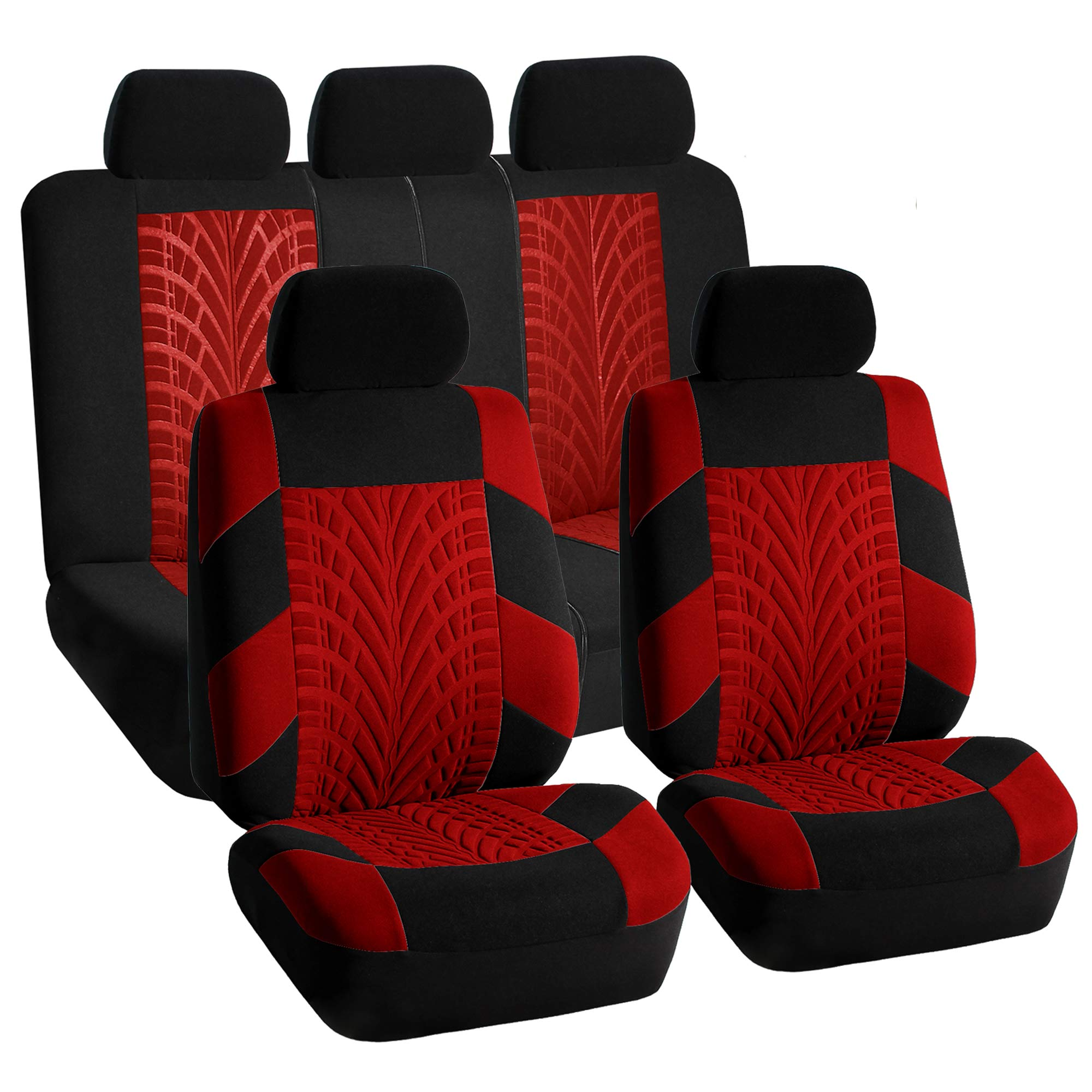 Car Seat Covers Complete Set Red For Car Free Gift Dash