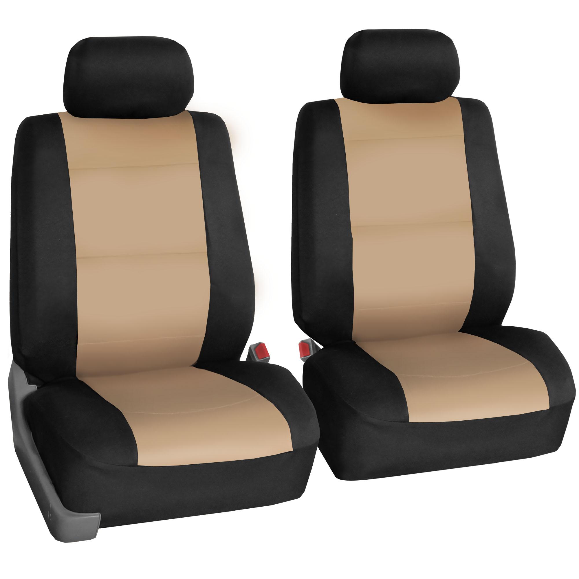 car seat cover neoprene waterproof pet proof full set 2 headrest cover beige ebay. Black Bedroom Furniture Sets. Home Design Ideas