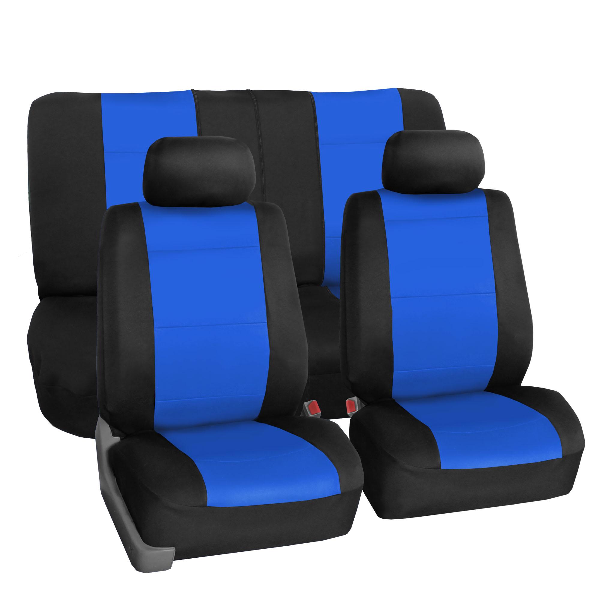 car seat cover neoprene waterproof pet proof full set 2 headrest cover blue ebay. Black Bedroom Furniture Sets. Home Design Ideas