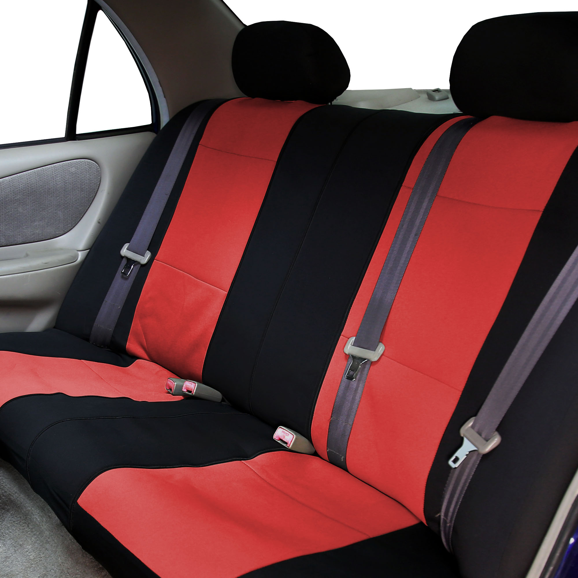 neoprene car seat covers with beige 4pcs mats combo full set for auto car suv ebay. Black Bedroom Furniture Sets. Home Design Ideas