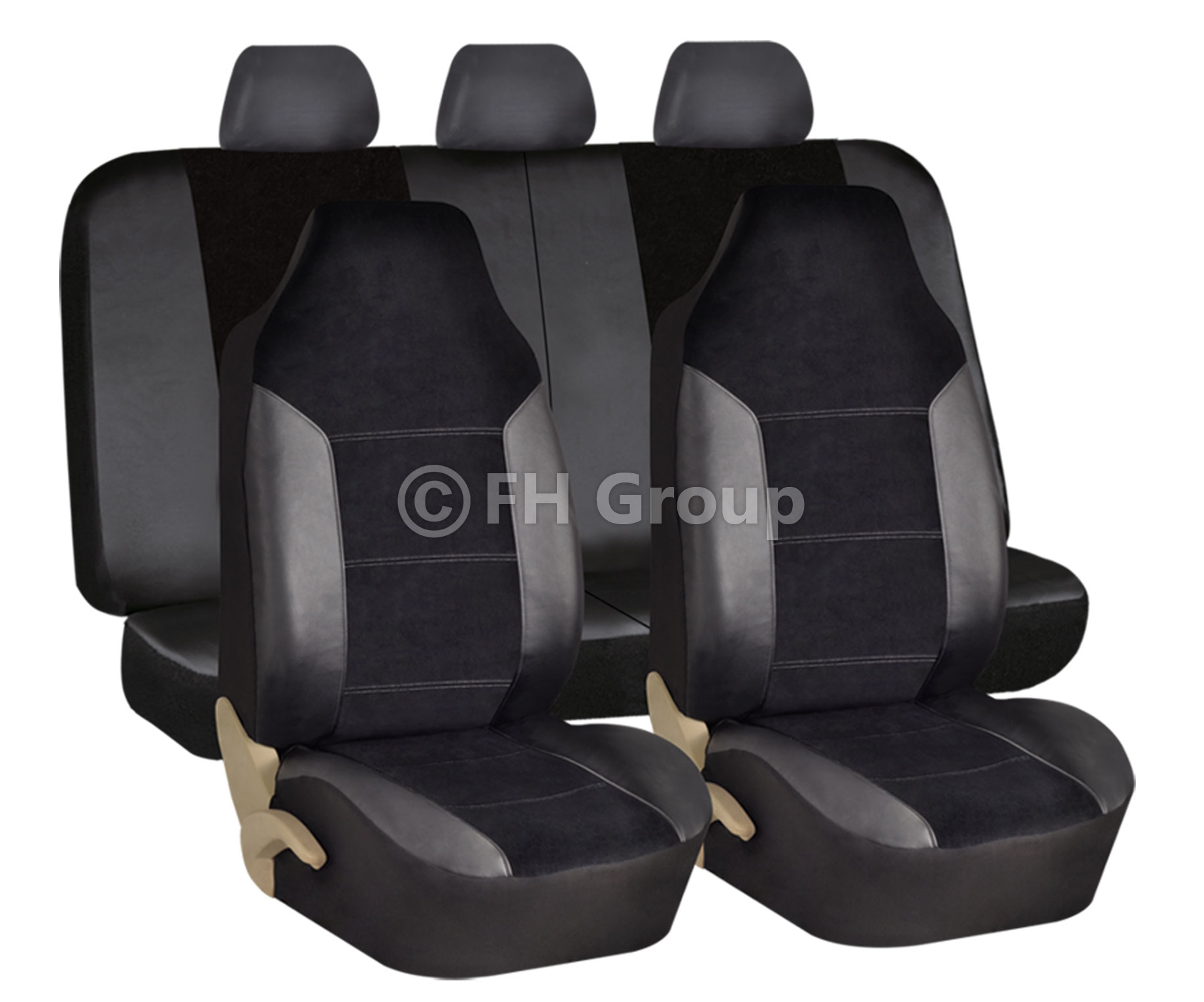 Rubber mats ebay - Leather Velour Car Seat Covers Luxury Sports With