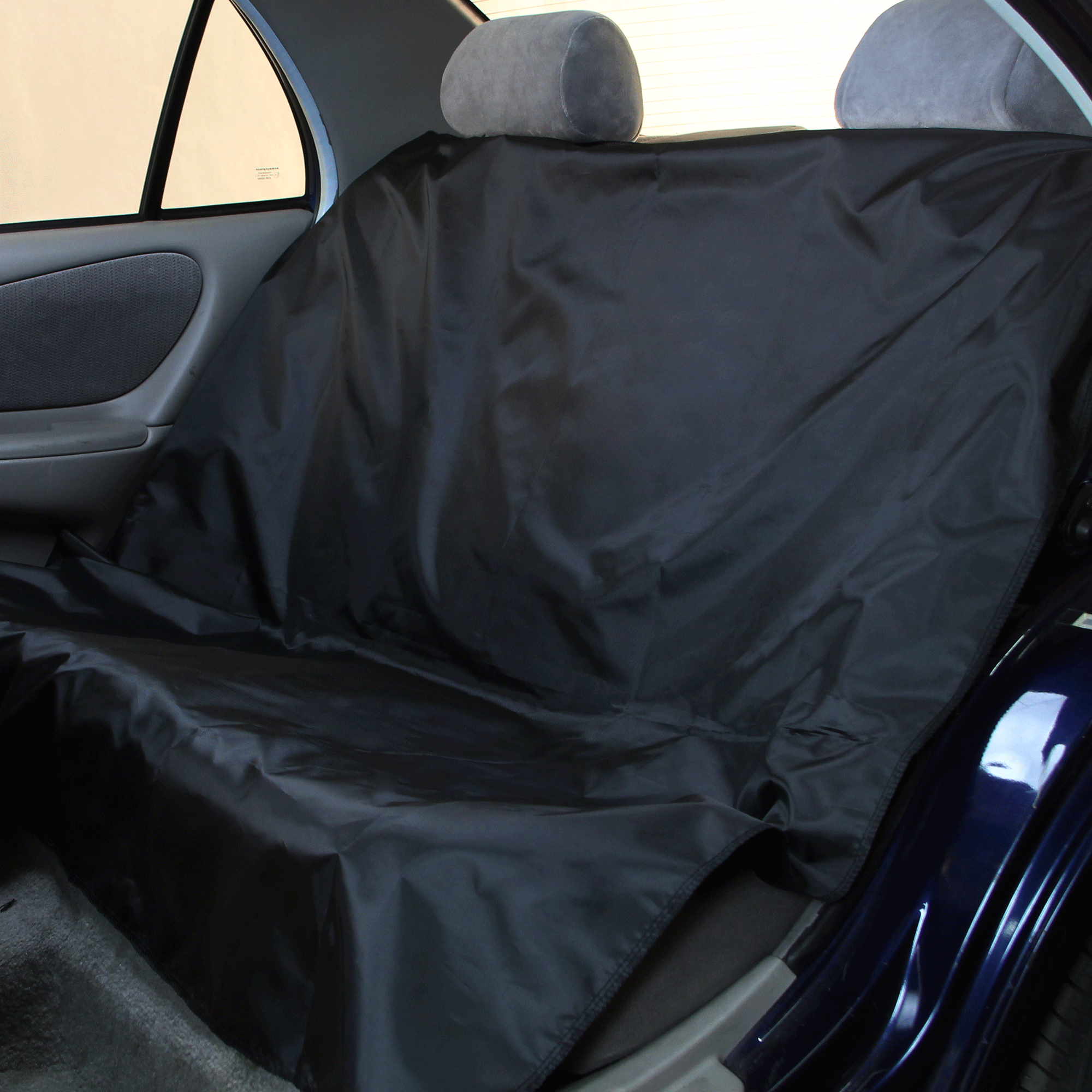 Rear Bench Water Resistant Car Seat Cover For Auto Black