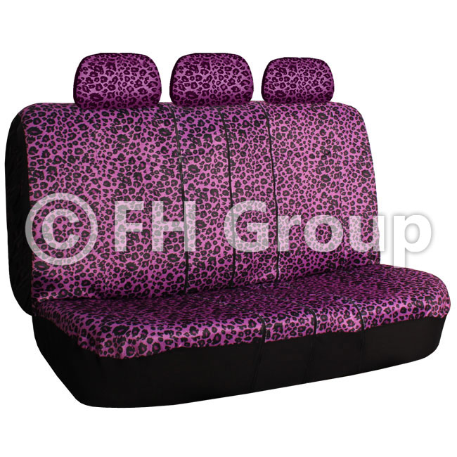 leopard print car bench seat covers split. Black Bedroom Furniture Sets. Home Design Ideas