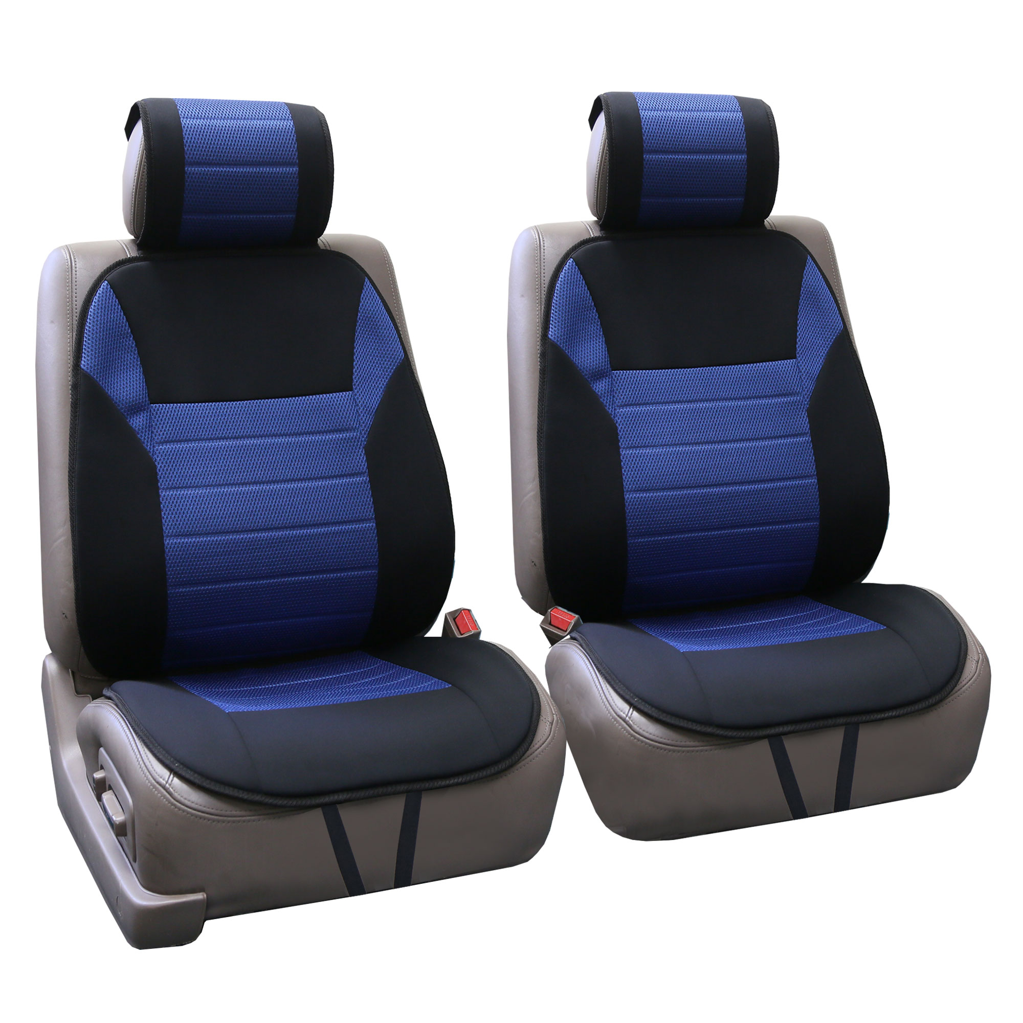 fh group premium fabric pair front car seat cushion pads airbag compatible ebay. Black Bedroom Furniture Sets. Home Design Ideas