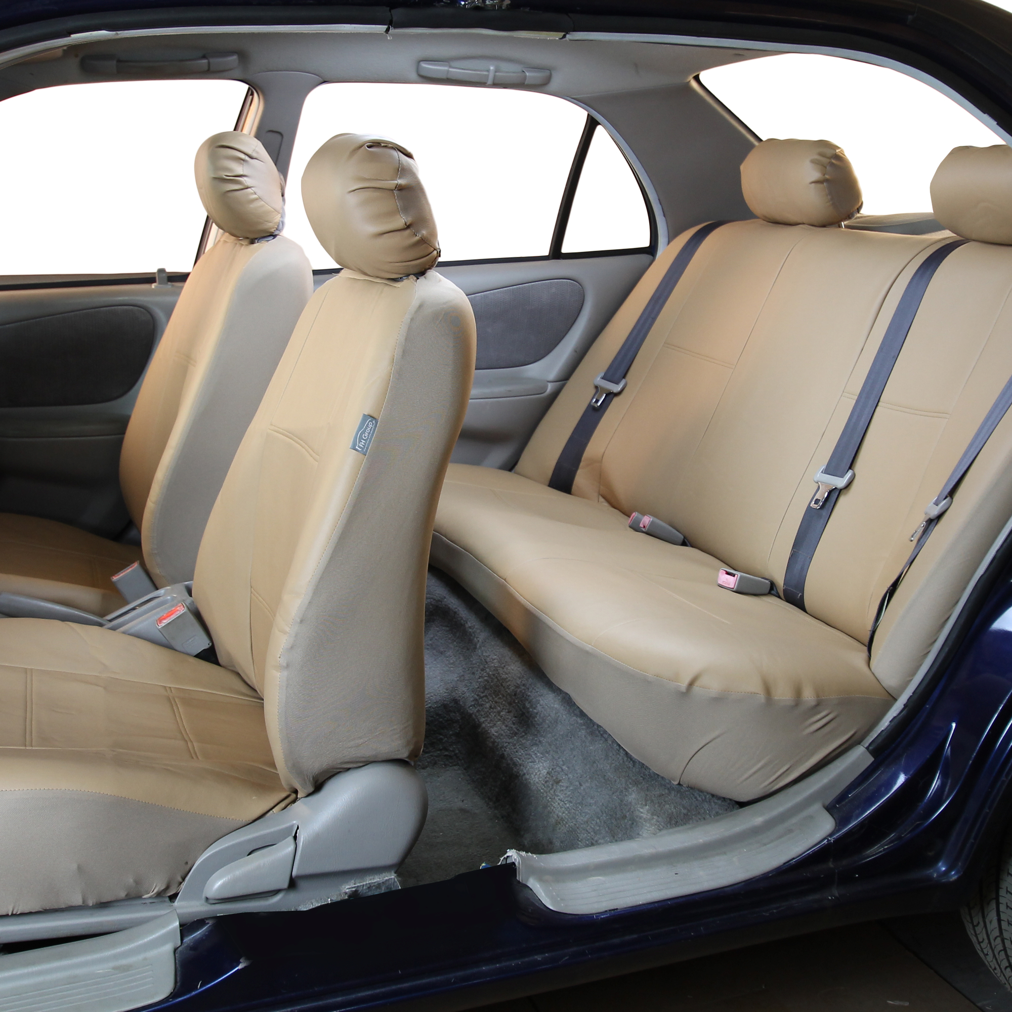 Pu Leather Bucket Seat Full Set Covers For Seats With Headrests Ebay