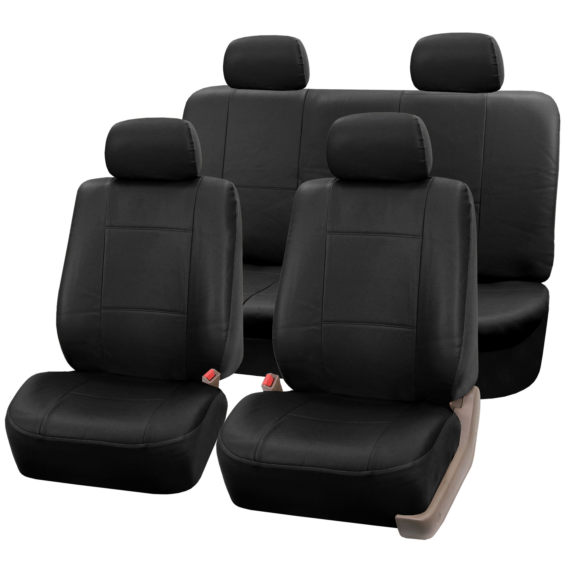 Faux Leather Full Sets Car Seat Cover For SUV VAN Auto
