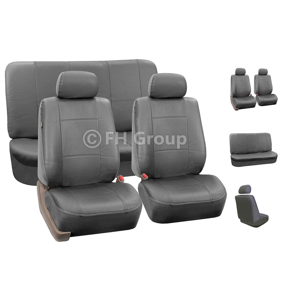 Complete Set Synthetic Leather Car Seat Covers For Auto