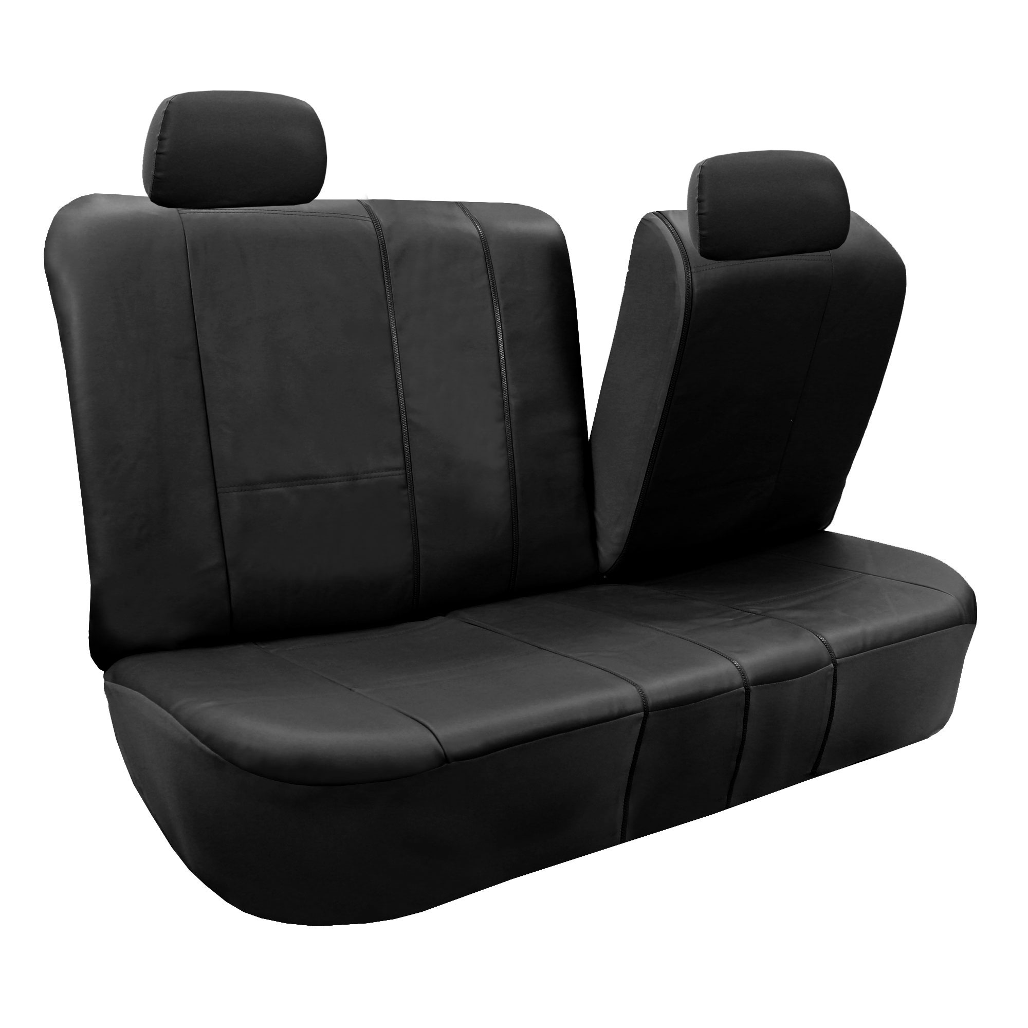 PU Leather Built In Seat Belt Seat Covers W Gray Floor